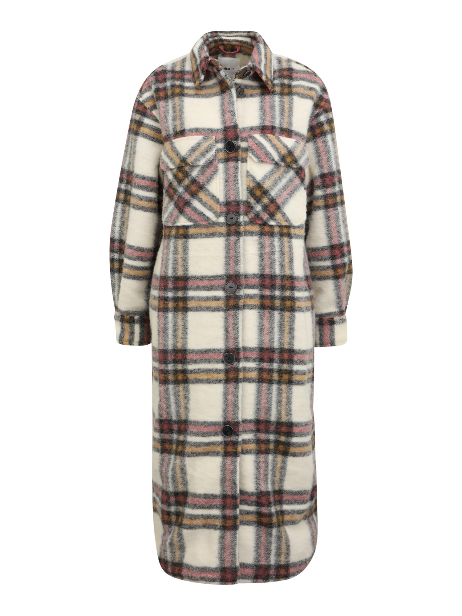 OBJECT Tall Přechodný kabát 'SELENE'  bílá / černá / žlutá / červená