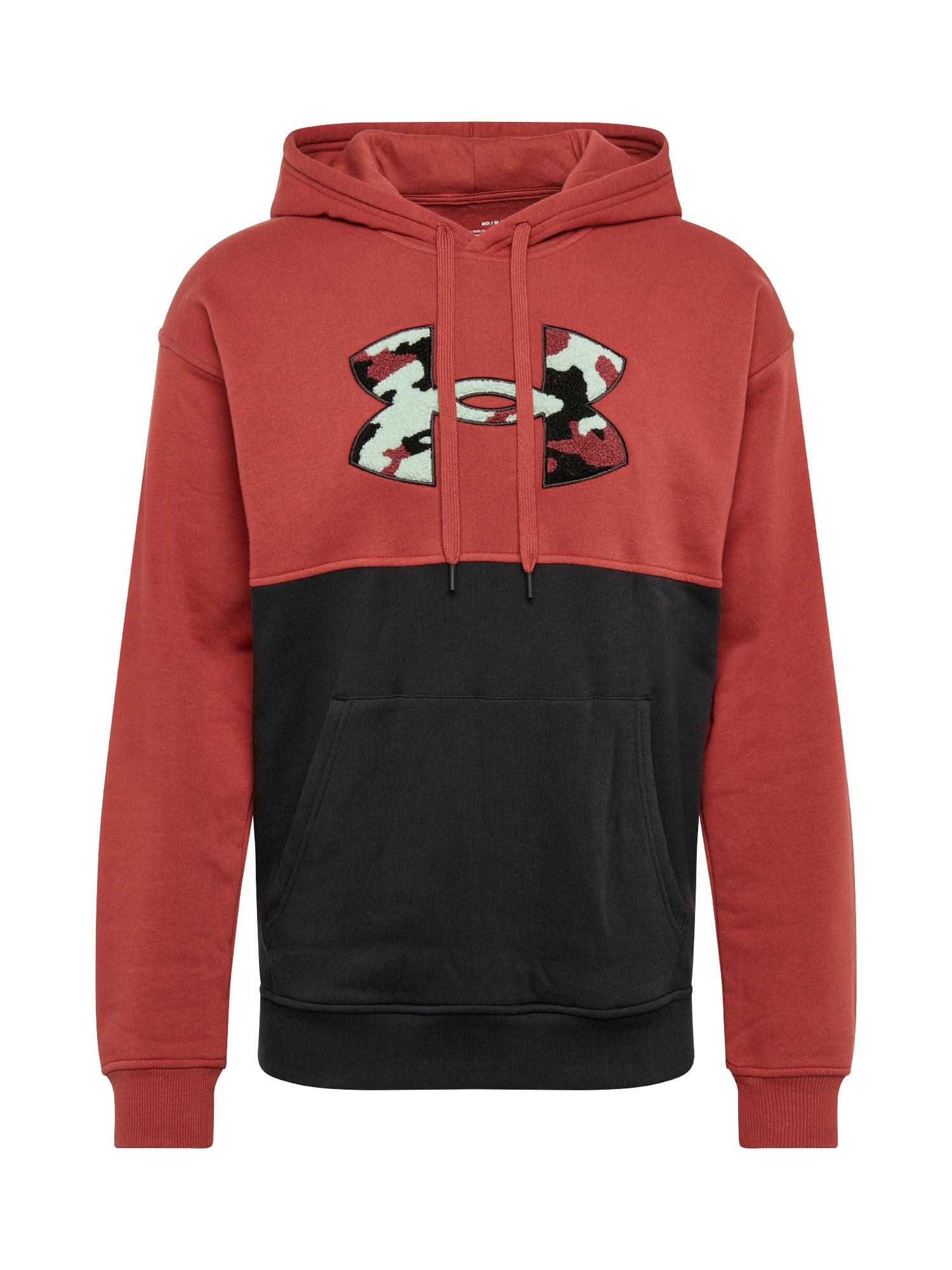 UNDER ARMOUR Sportinis megztinis raudona / juoda / balta