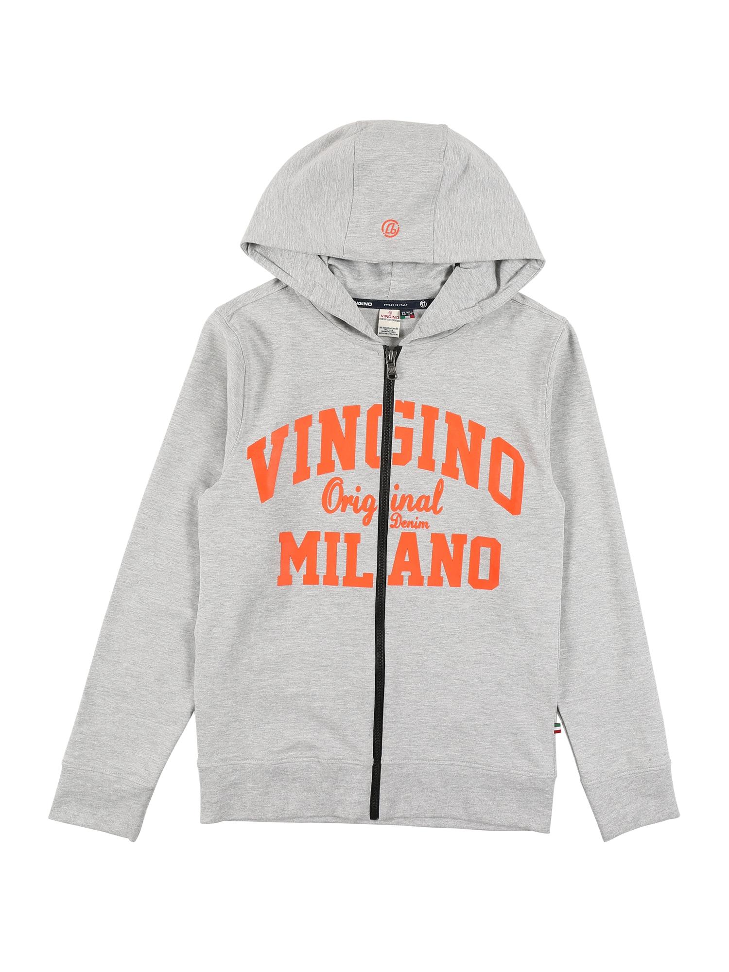 VINGINO Džemperis margai pilka / oranžinė