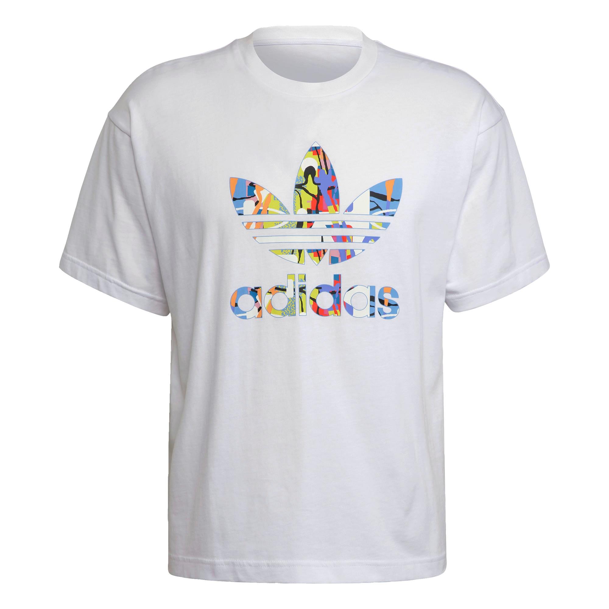 ADIDAS ORIGINALS Tričko  bílá / červená / modrá / žlutá / černá