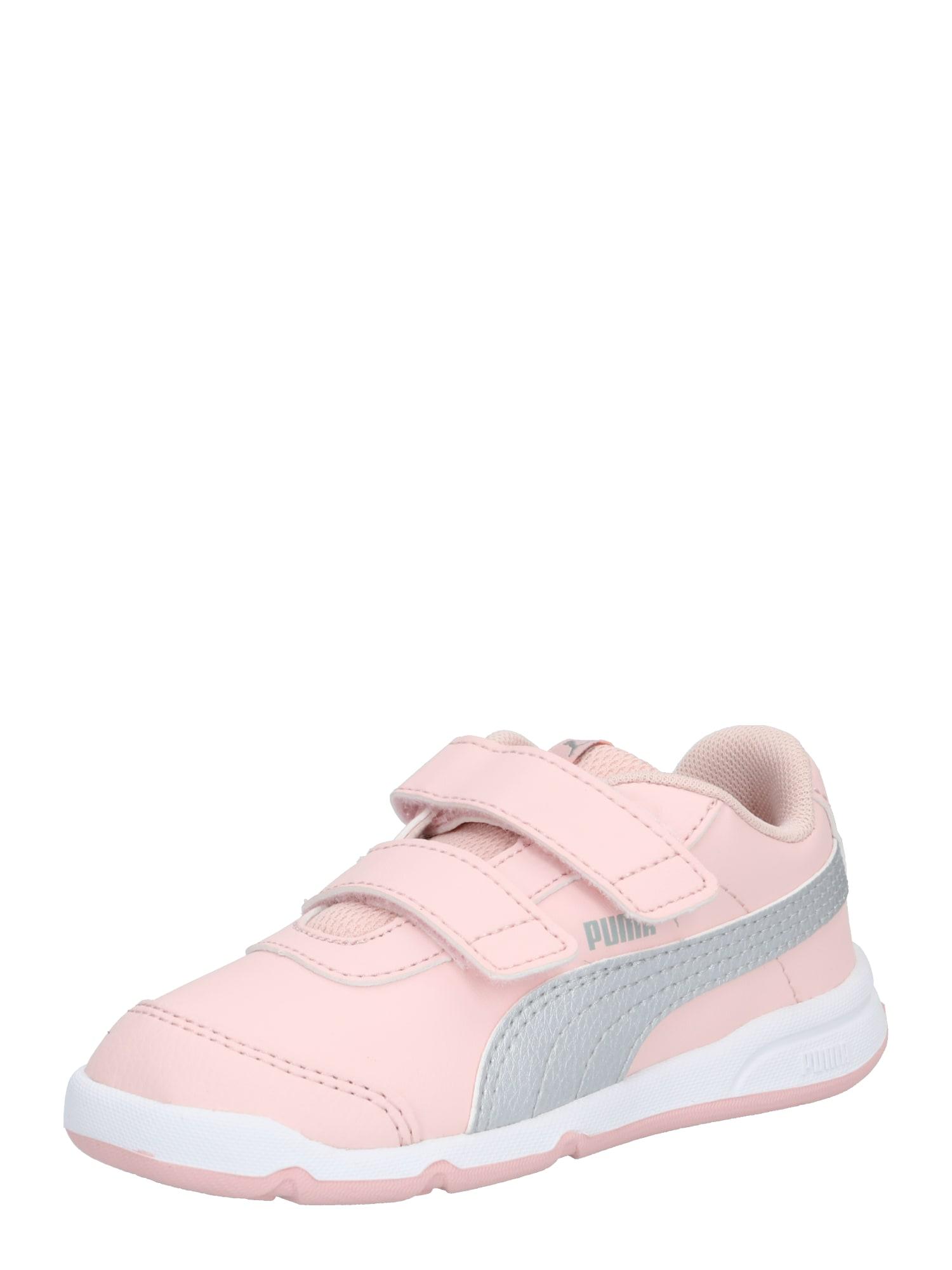 PUMA Sportovní boty 'Stepfleex'  růžová / šedá