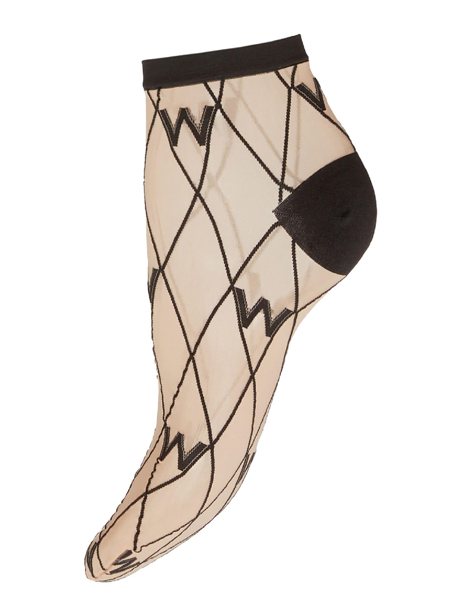 Wolford Kojinės kūno spalva / juoda