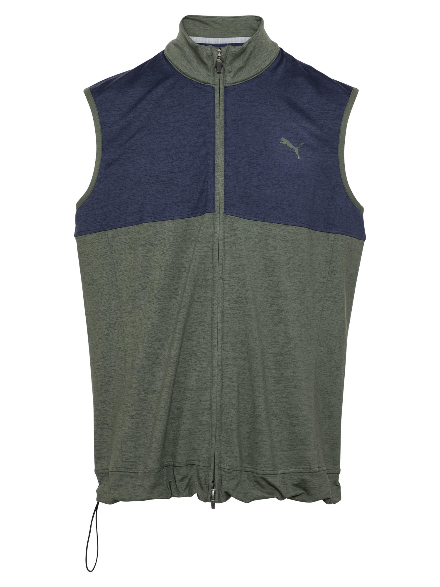 PUMA Sportinė liemenė tamsiai mėlyna / rusvai žalia