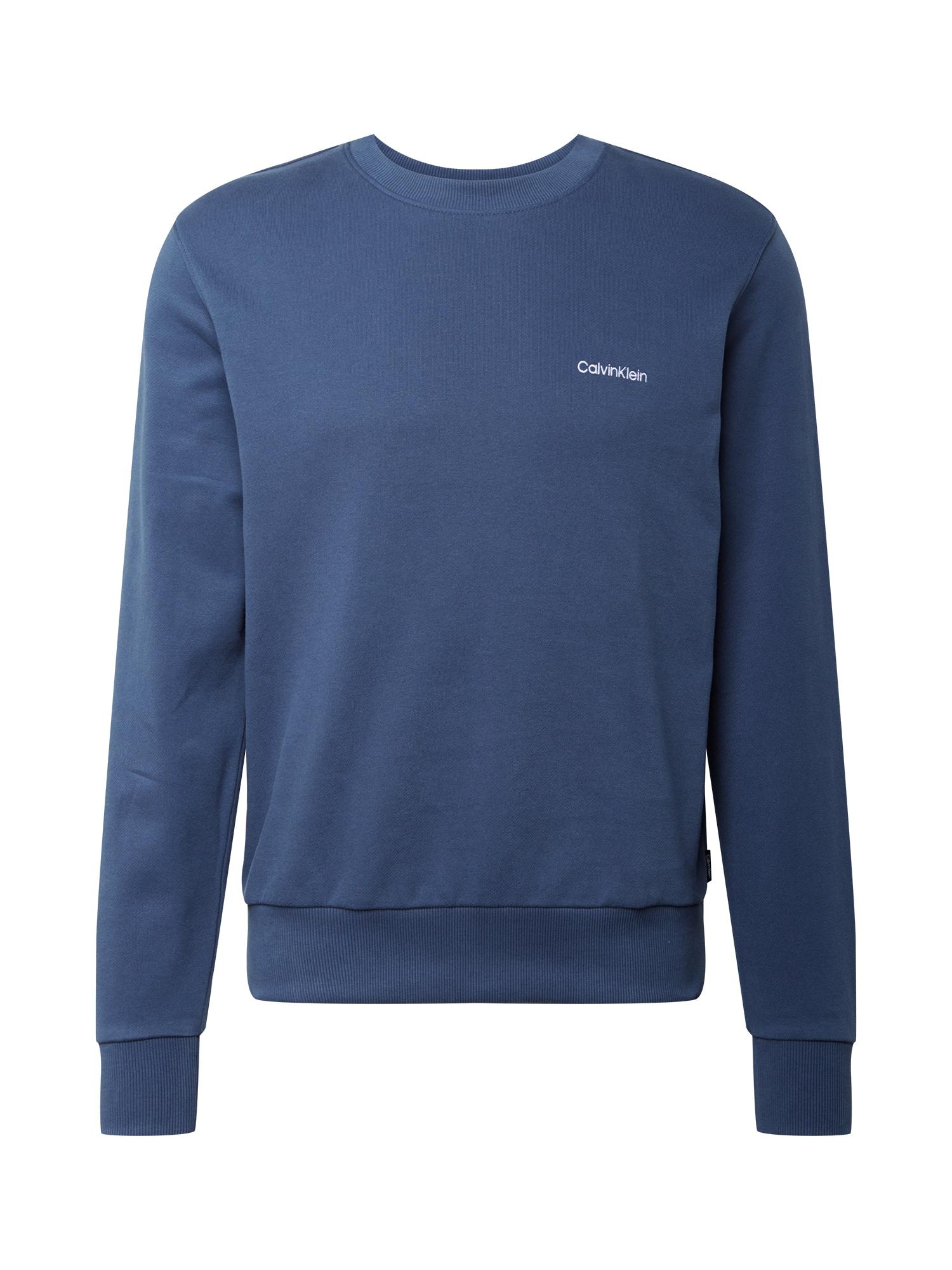 Calvin Klein Megztinis be užsegimo mėlyna / balta