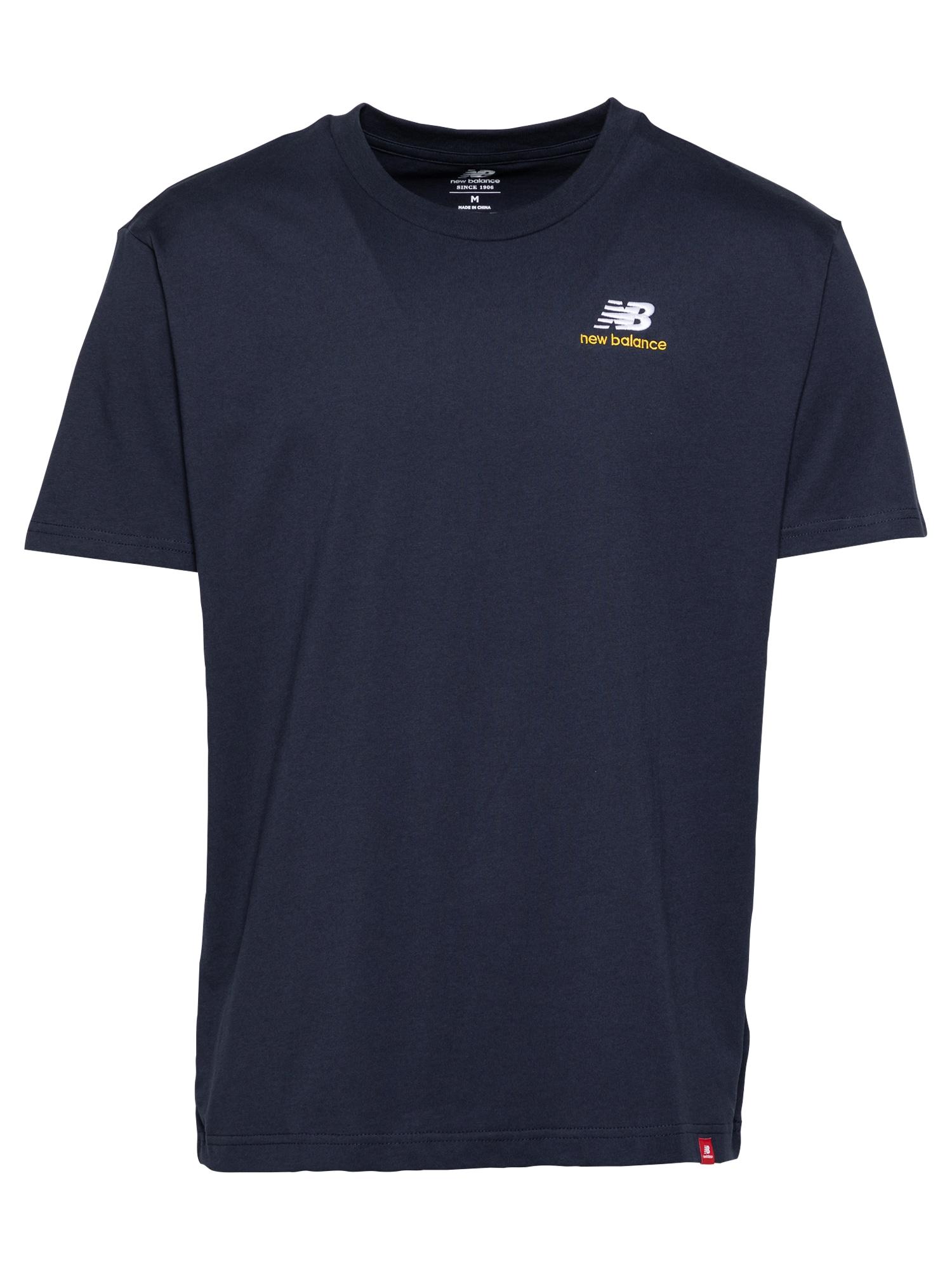 new balance Marškinėliai tamsiai mėlyna / balta