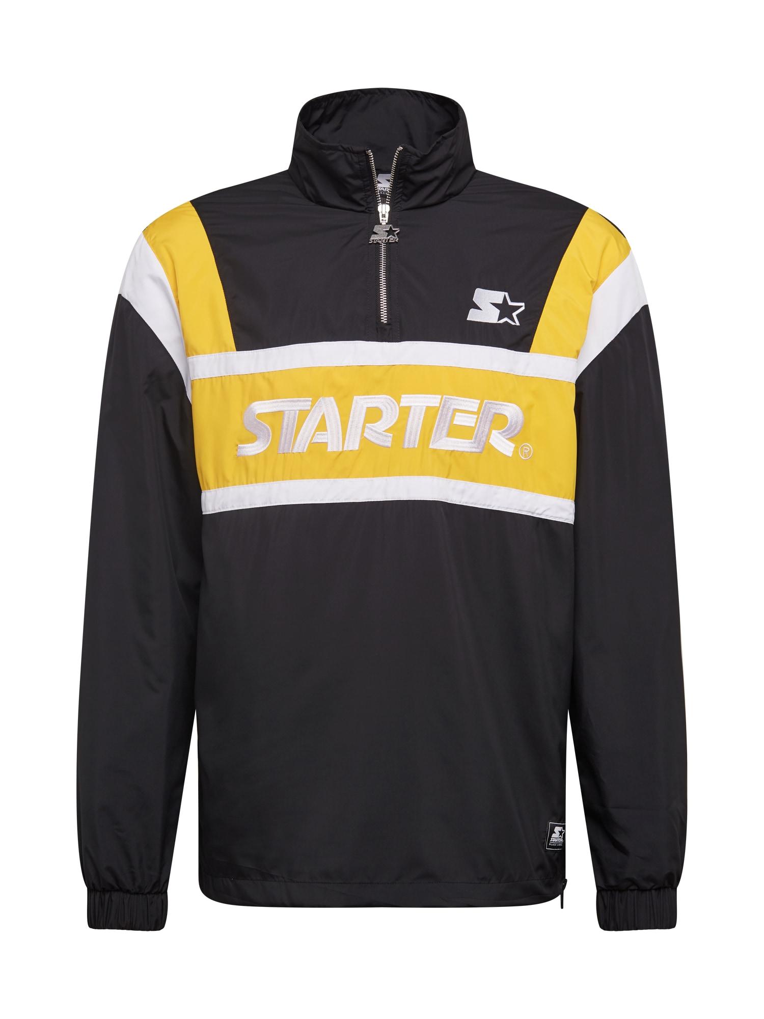 Starter Black Label Demisezoninė striukė juoda / geltona / balta
