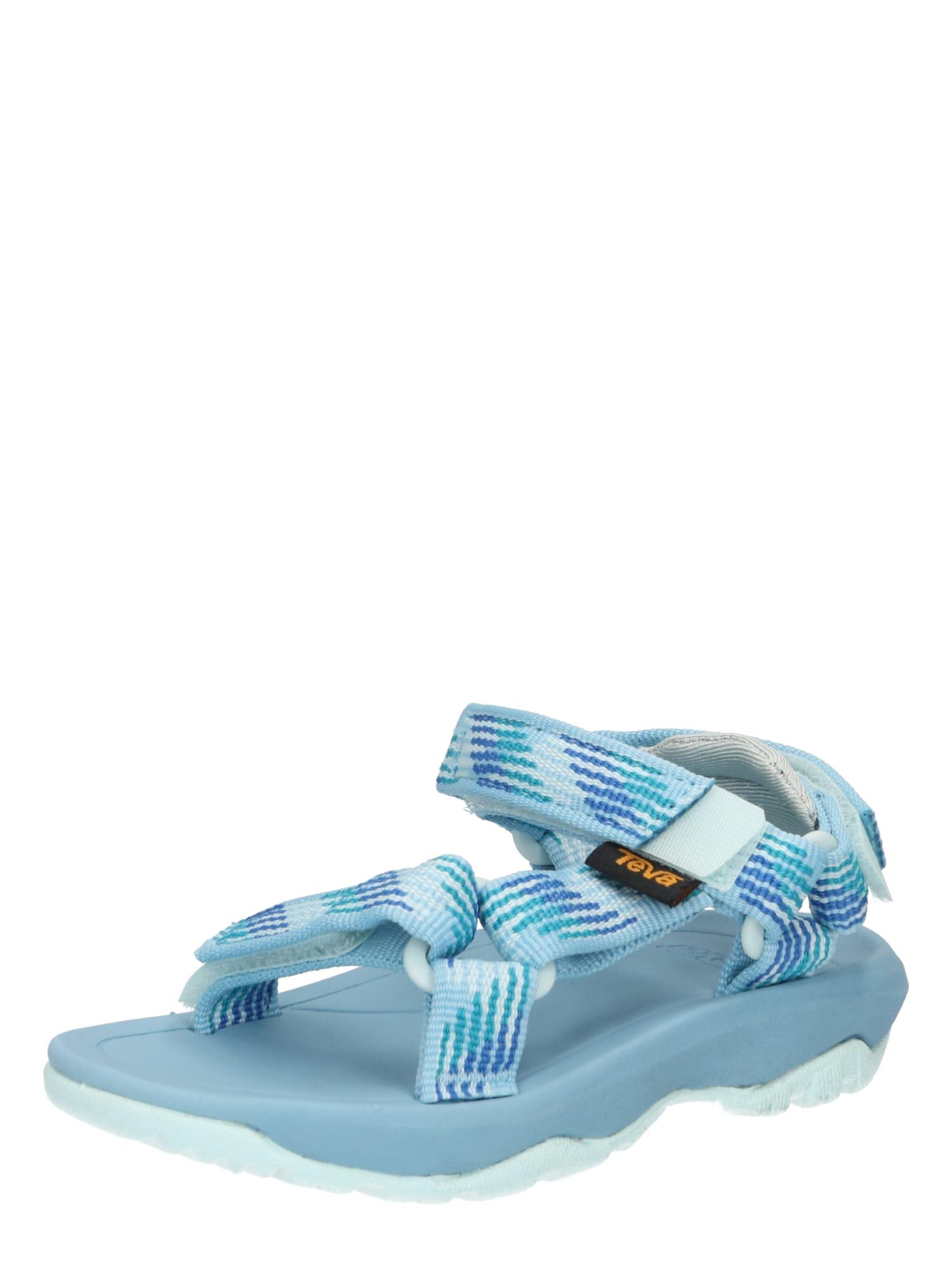 TEVA Atviri batai šviesiai mėlyna / vandens spalva / tamsiai mėlyna