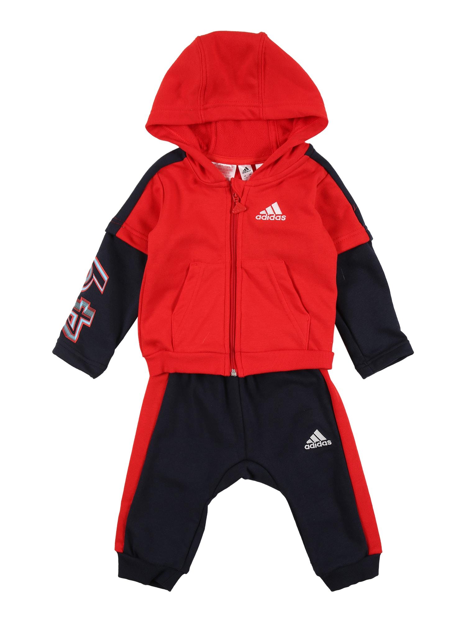 ADIDAS PERFORMANCE Sportinis kostiumas raudona / juoda / balta