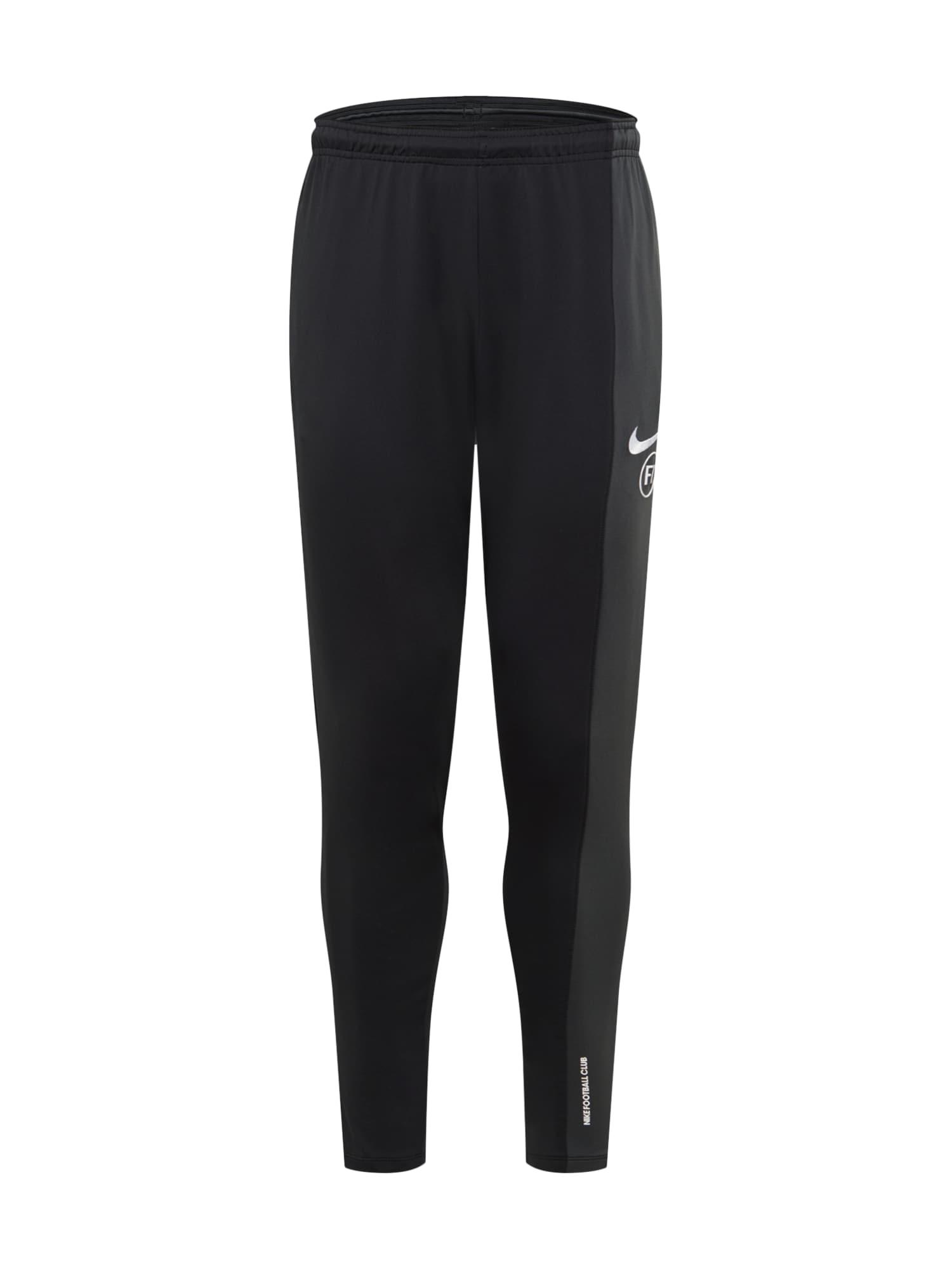 NIKE Sportinės kelnės juoda / tamsiai pilka / balta