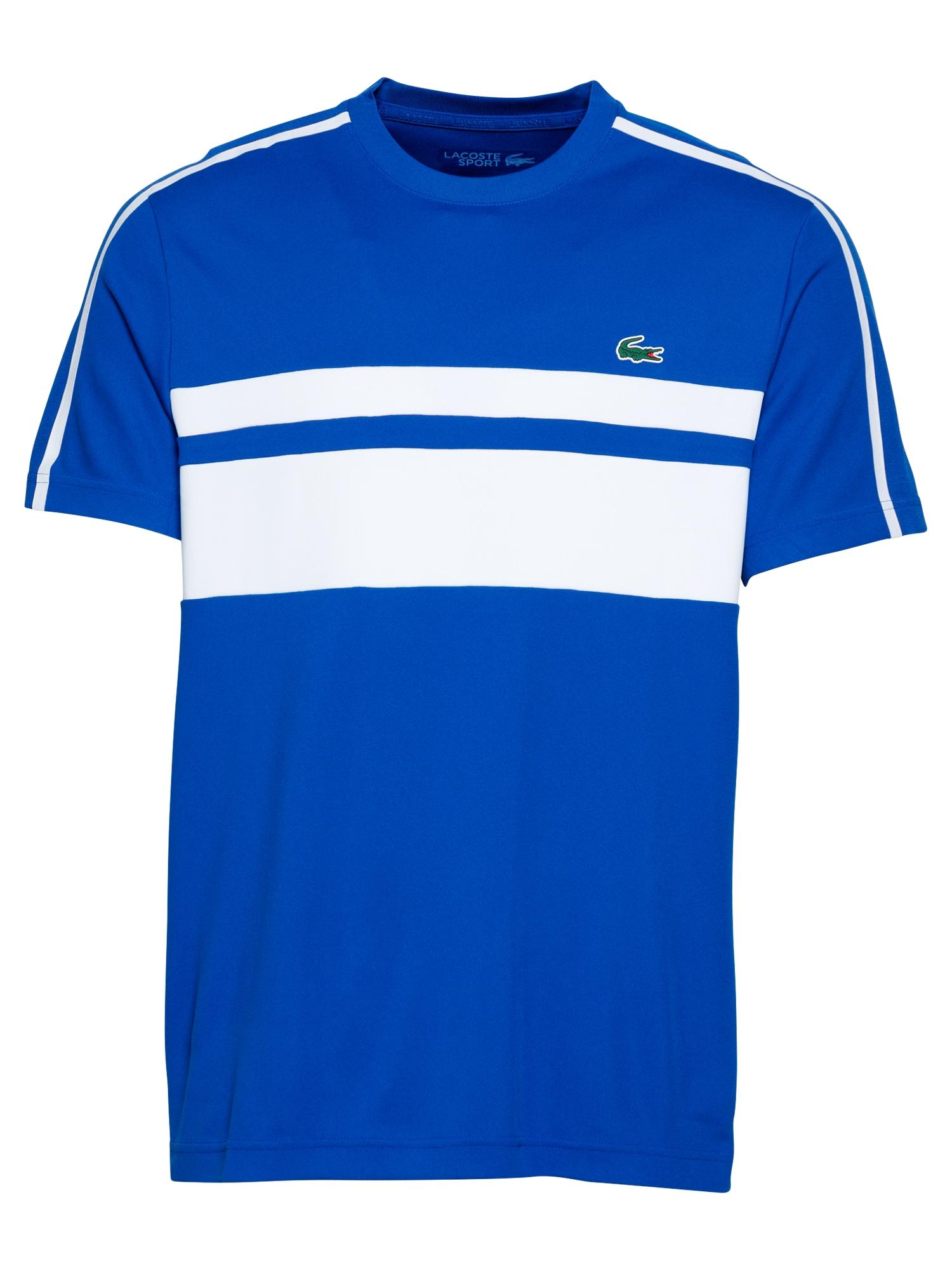 Lacoste Sport Sportiniai marškinėliai balta / mėlyna