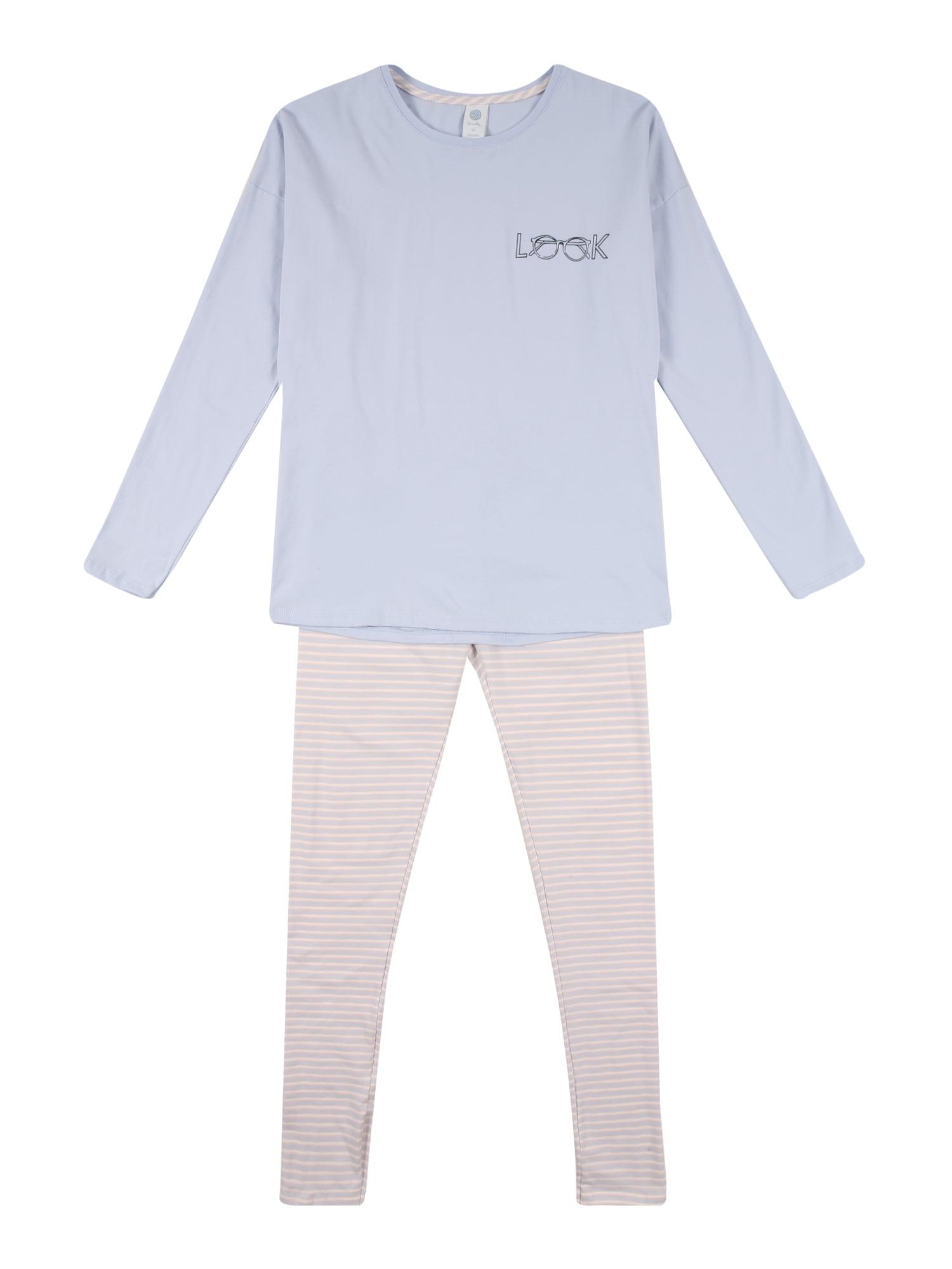 SANETTA Miego kostiumas šviesiai mėlyna / rožių spalva