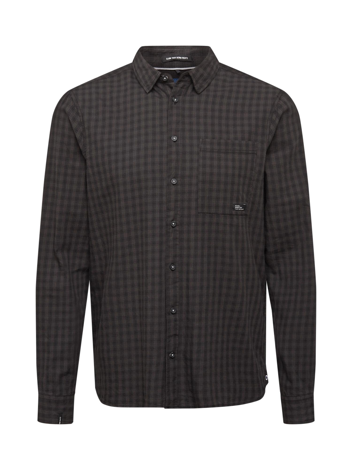 BLEND Marškiniai juoda / tamsiai pilka