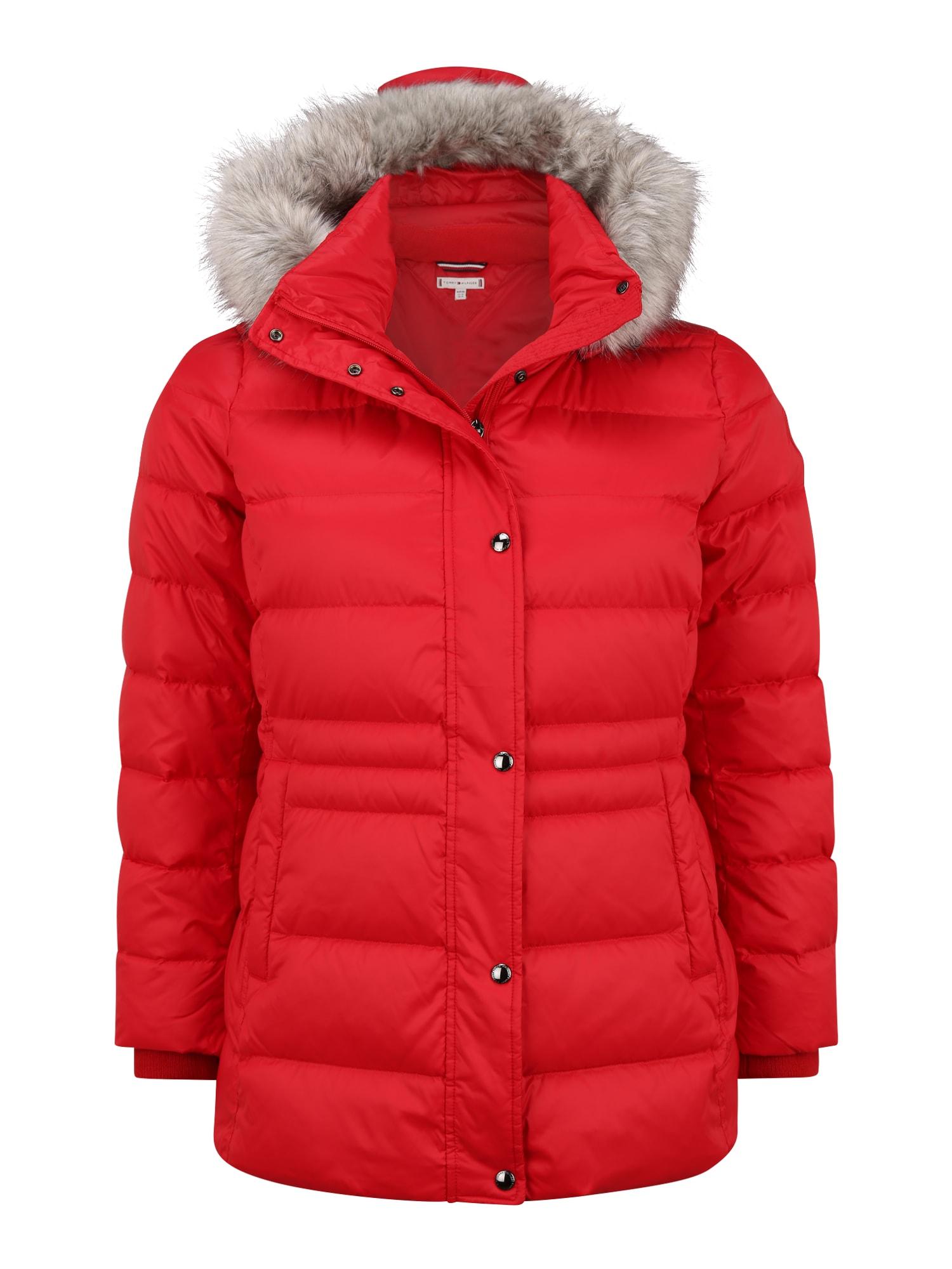 Tommy Hilfiger Curve Zimní bunda  červená