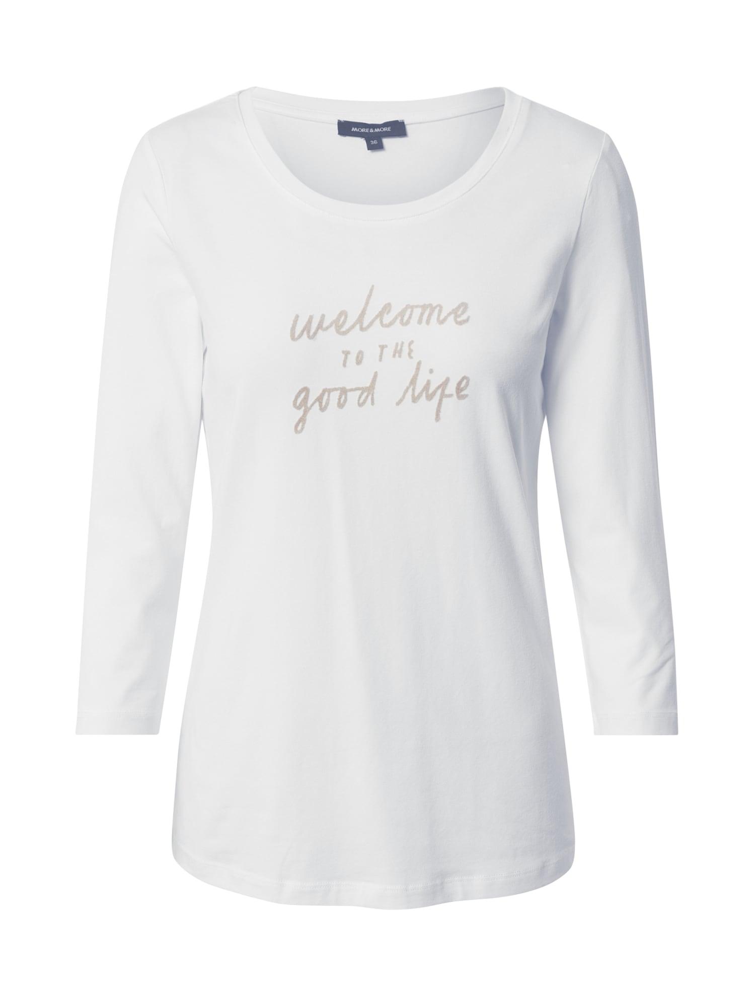 MORE & MORE Marškinėliai natūrali balta / smėlio