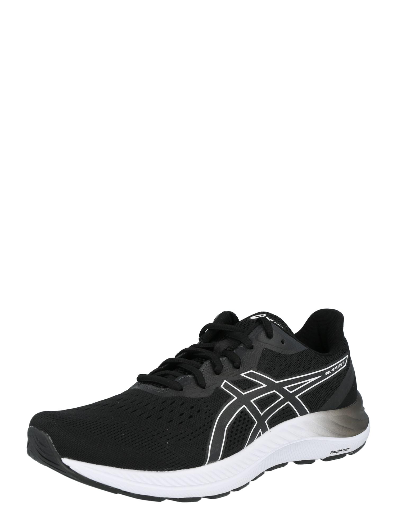 ASICS Bėgimo batai juoda / balta