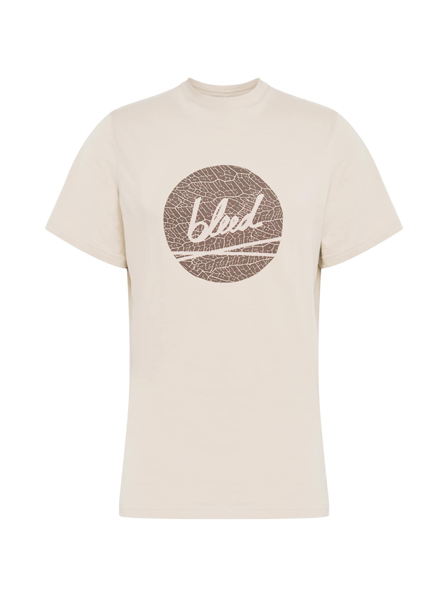 bleed clothing Marškinėliai 'Dot Logo' rausvai pilka / ruda