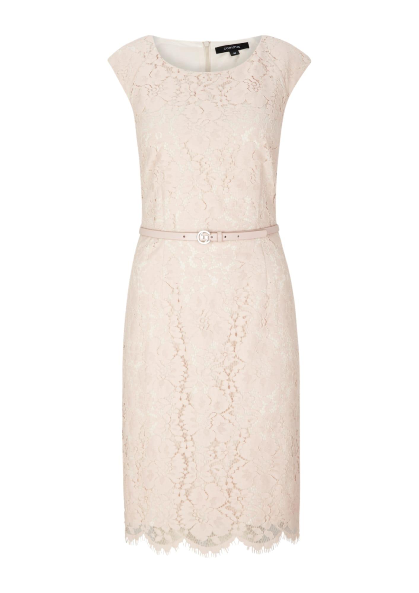 COMMA Suknelė pudros spalva