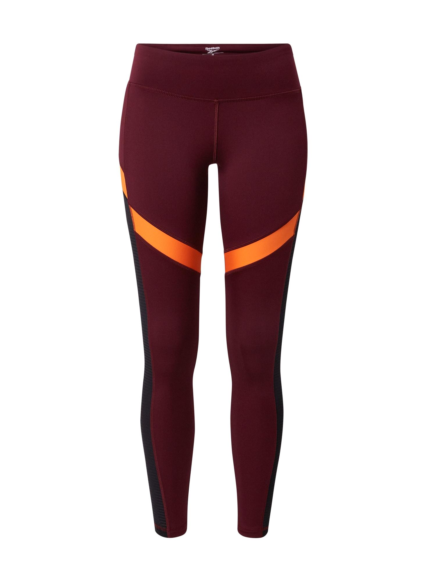 REEBOK Sportinės kelnės oranžinė / raudona