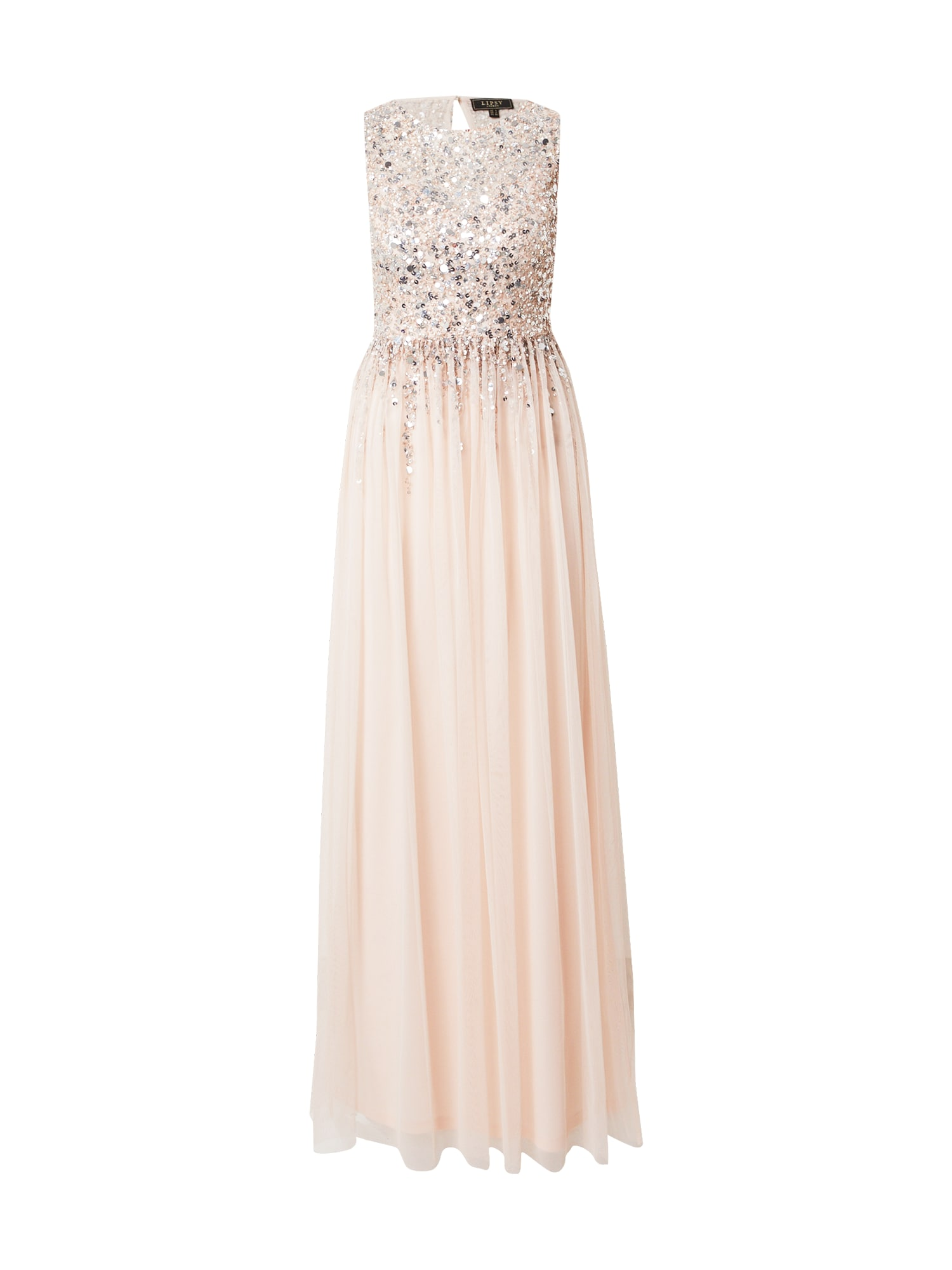 Lipsy Vakarinė suknelė pudros spalva / sidabrinė