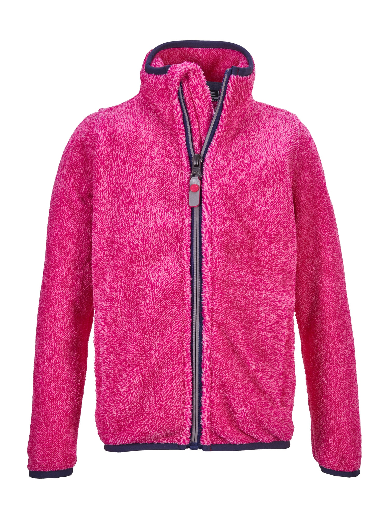 KILLTEC Funkcinis flisinis džemperis neoninė rožinė / tamsiai mėlyna