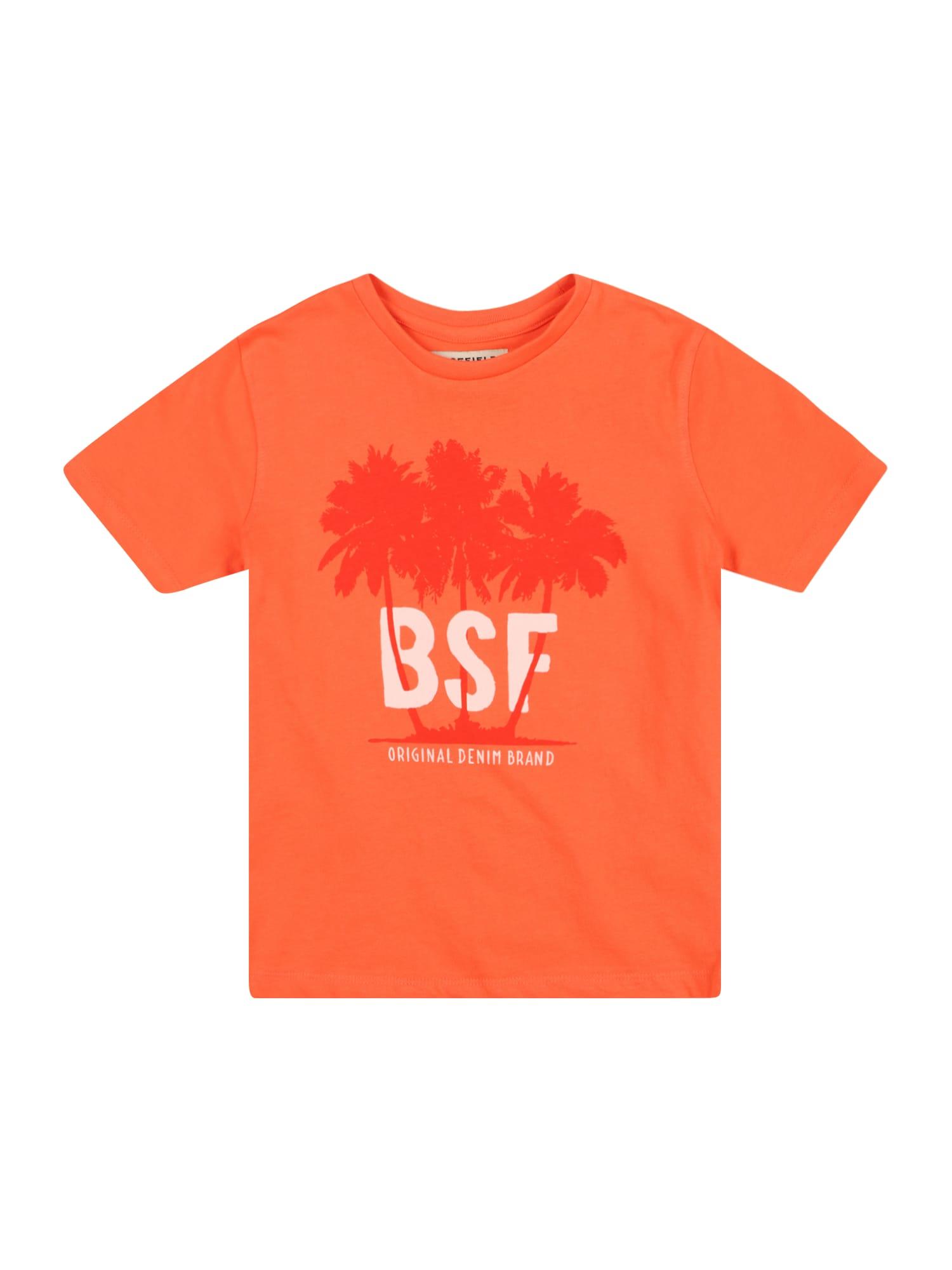 BASEFIELD Marškinėliai koralų splava / oranžinė-raudona / balta