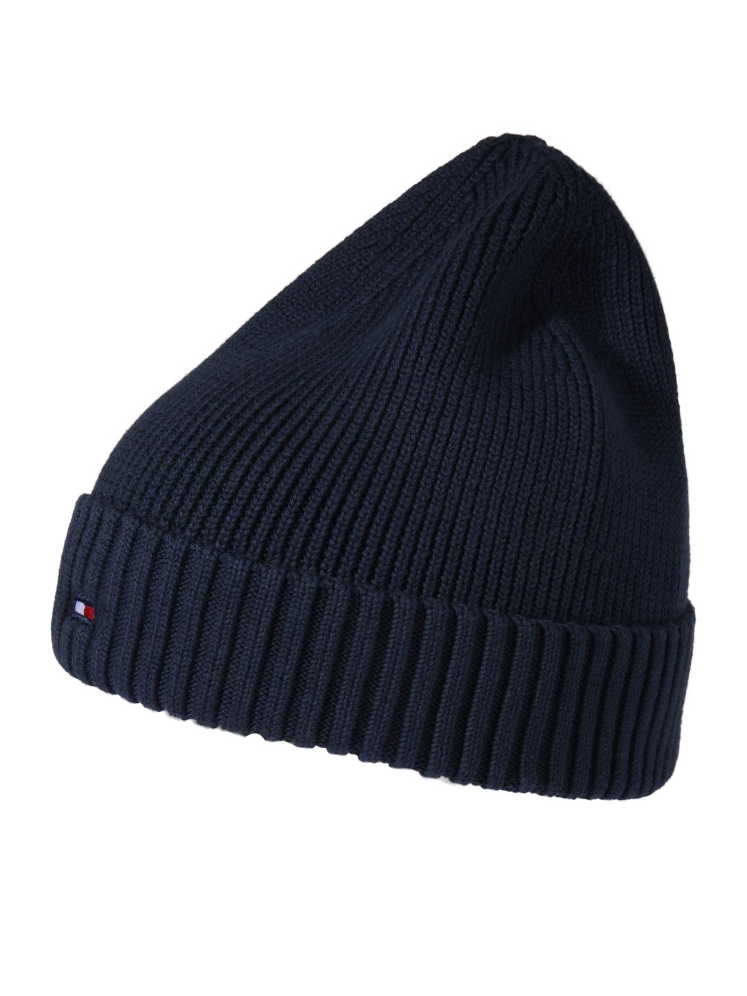 TOMMY HILFIGER Megzta kepurė tamsiai mėlyna / balta / raudona
