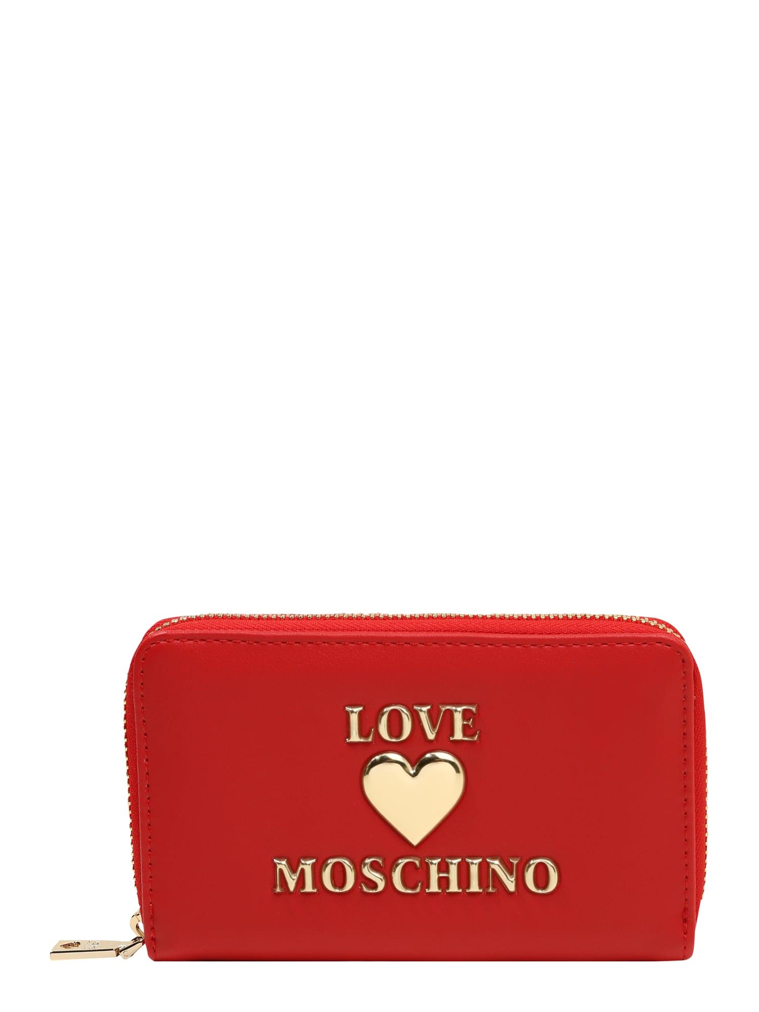 Love Moschino Piniginė raudona / auksas