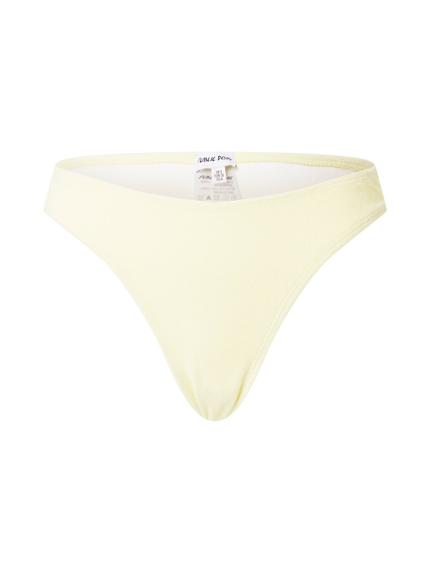 Public Desire Bikinio kelnaitės pastelinė geltona