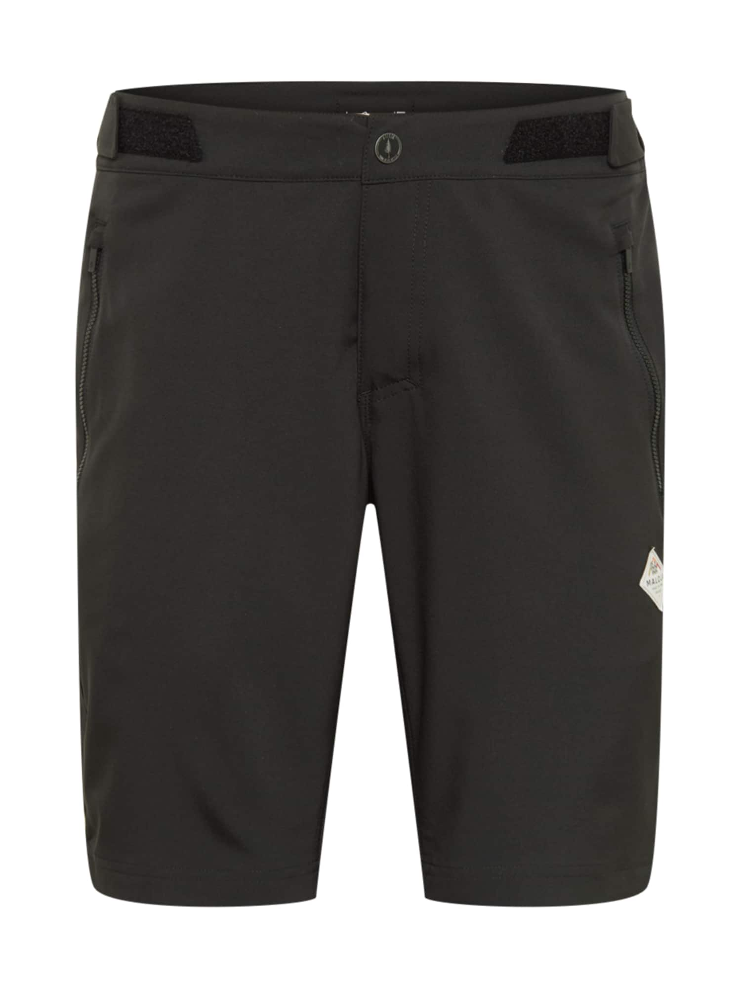 Maloja Outdoorové kalhoty 'Bardin'  černá / bílá