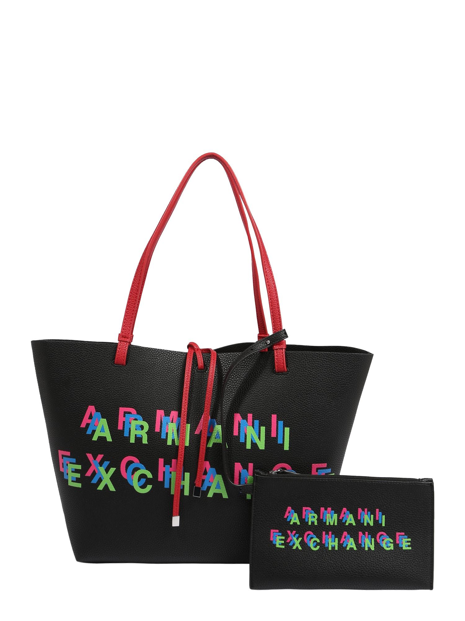 ARMANI EXCHANGE Nákupní taška  černá / mix barev