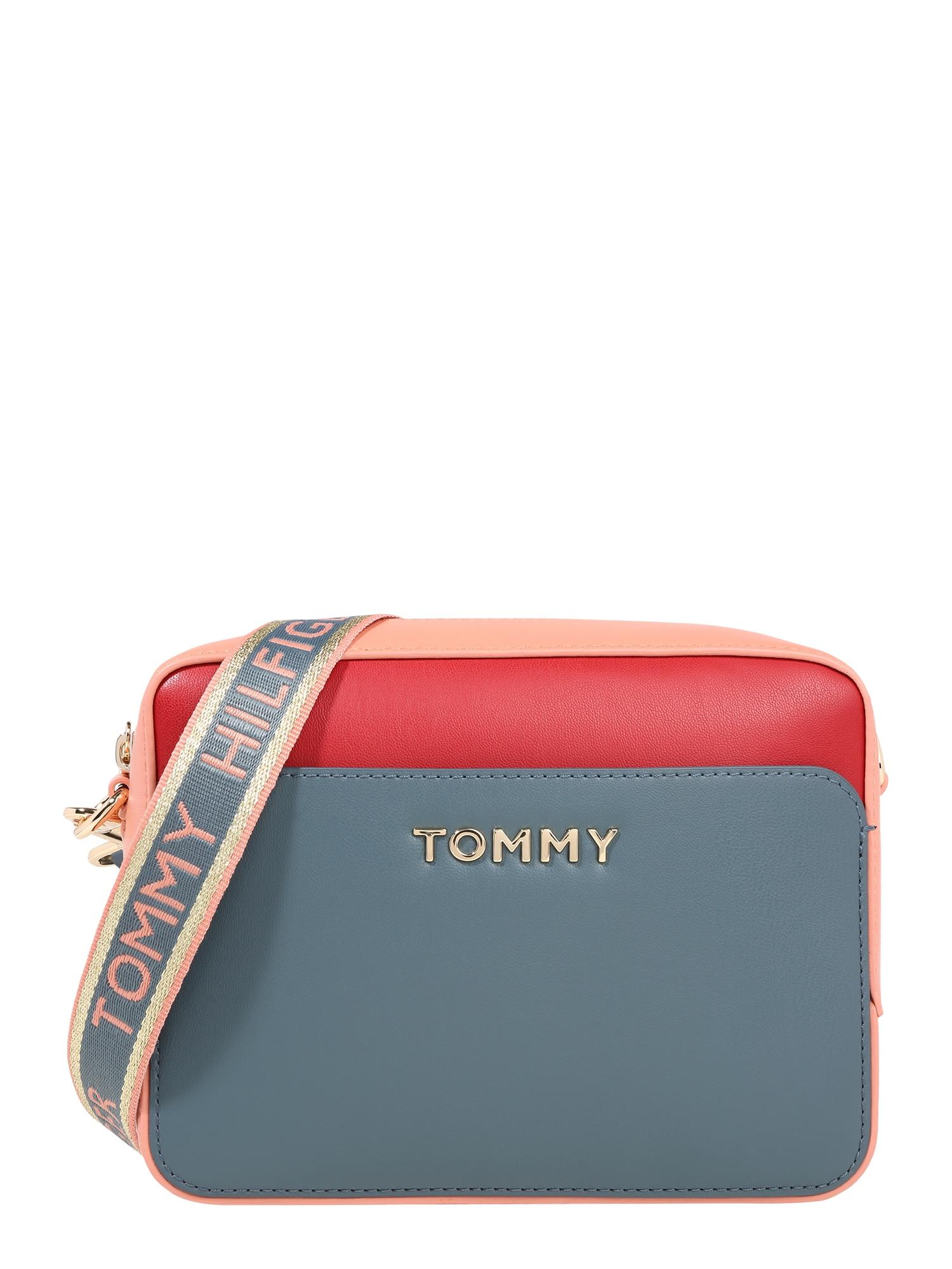 TOMMY HILFIGER Taška přes rameno  červená / kouřově modrá / růžová