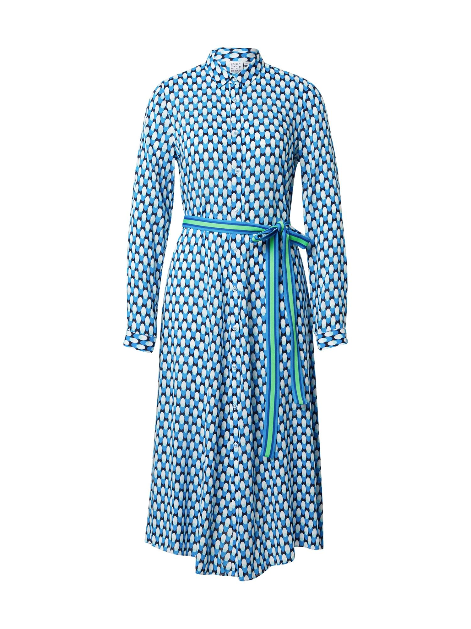 Emily Van Den Bergh Palaidinės tipo suknelė turkio spalva / balta / juoda