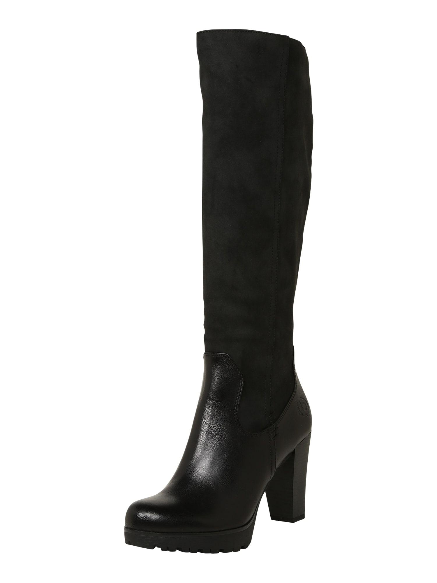 bugatti Auliniai batai su kulniuku juoda