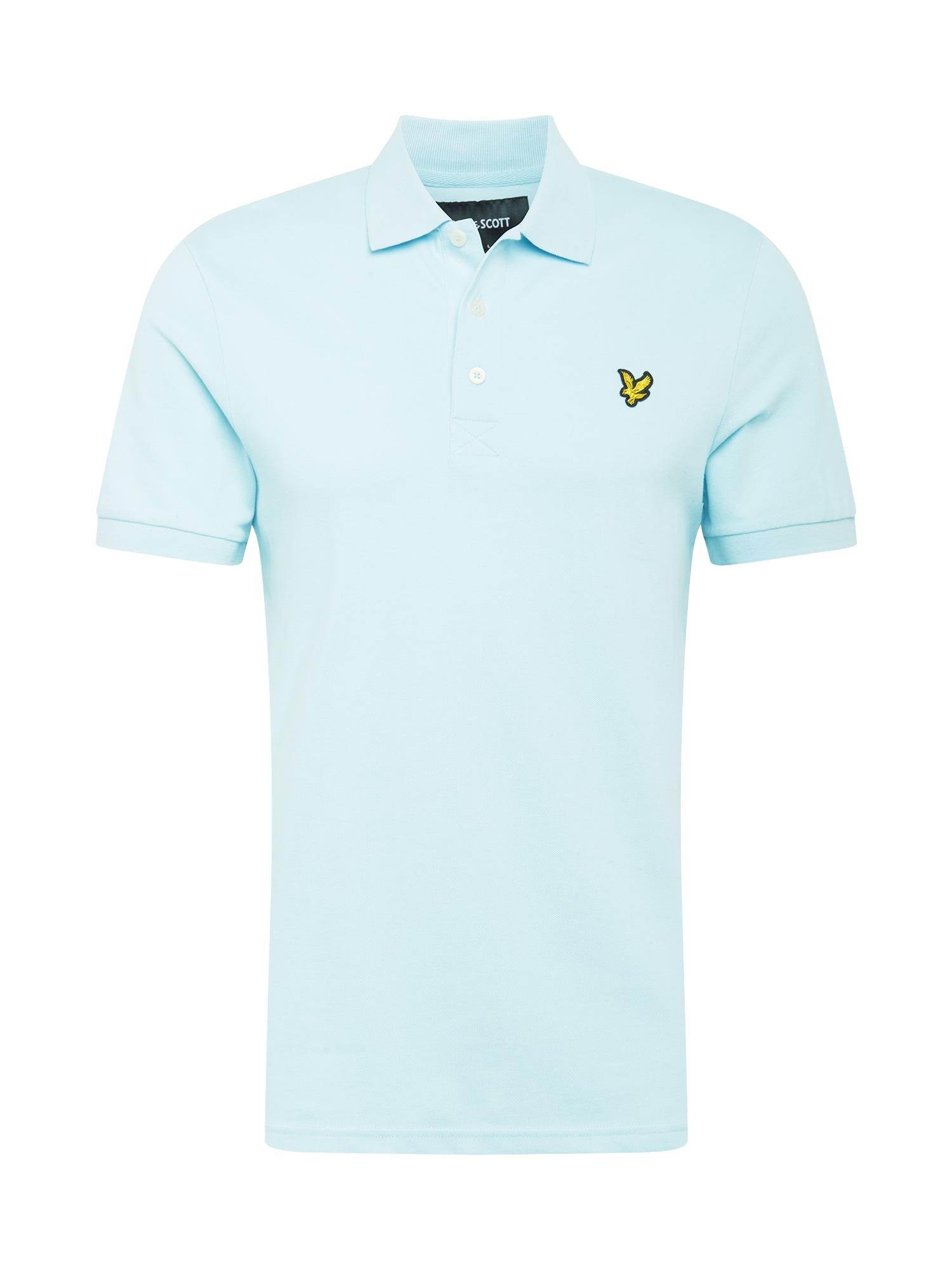 Lyle & Scott Marškinėliai šviesiai mėlyna / juoda / geltona