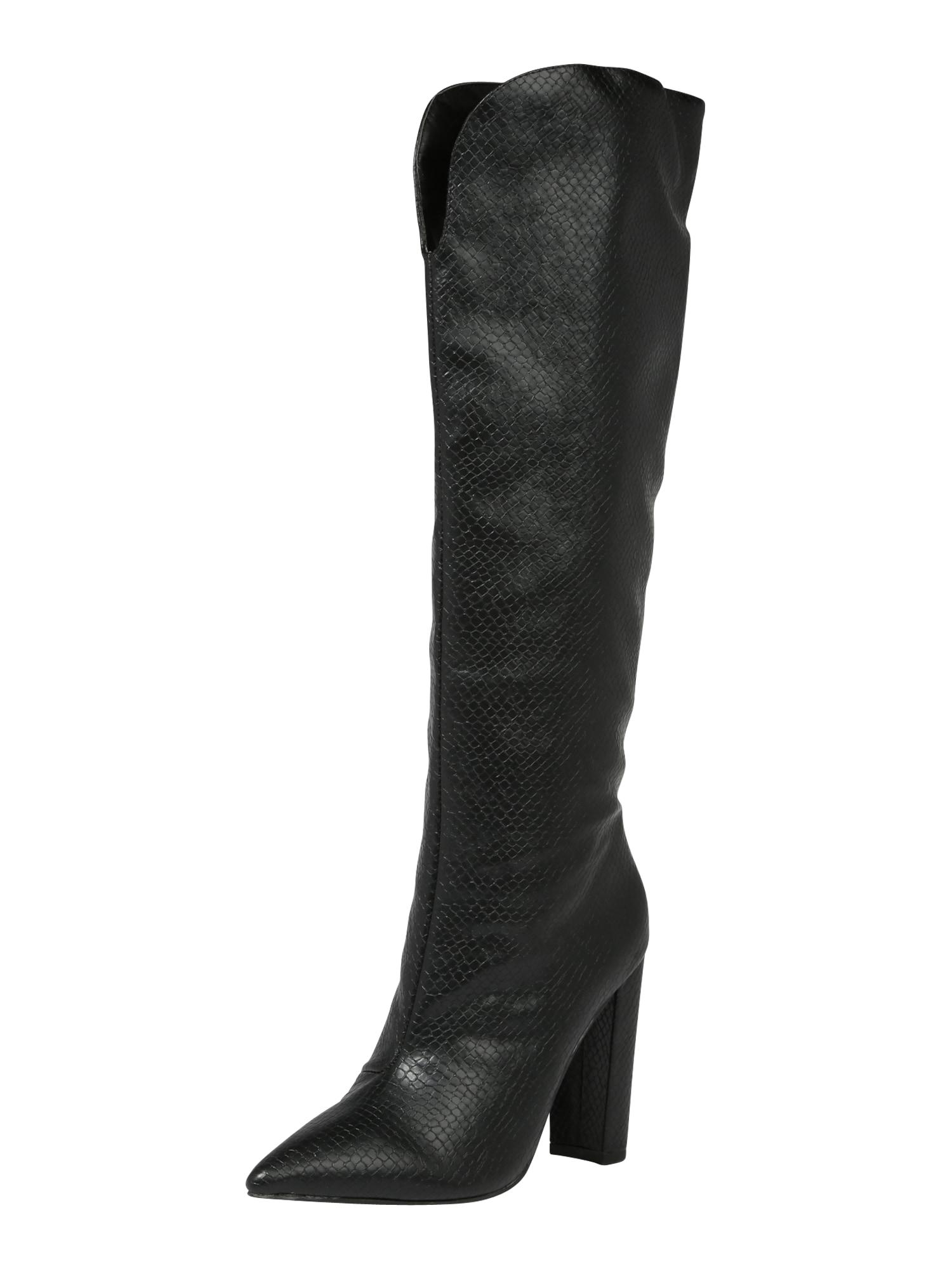 Public Desire Auliniai batai su kulniuku 'SLOW' juoda