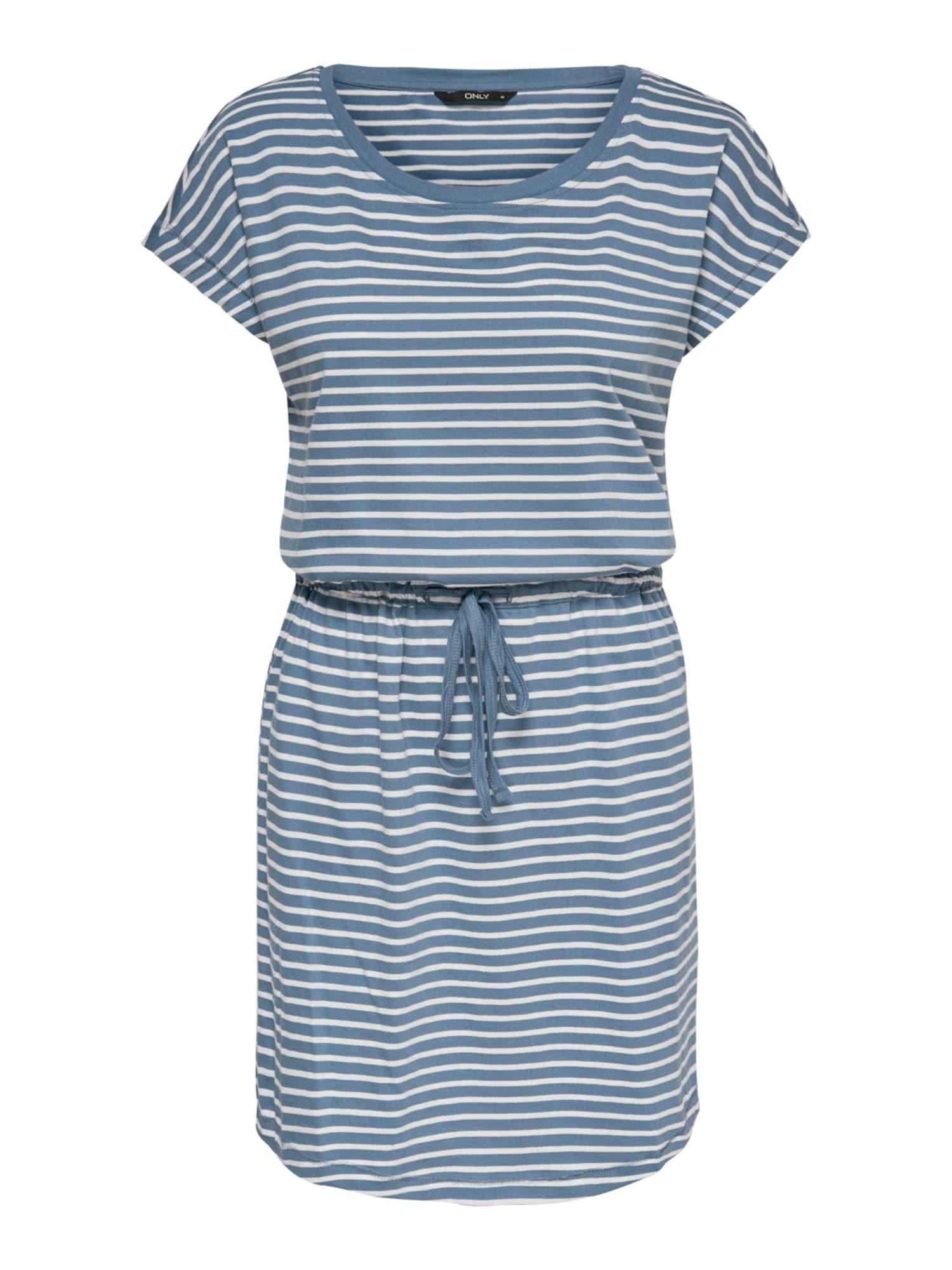 ONLY Šaty  nebeská modř / bílá