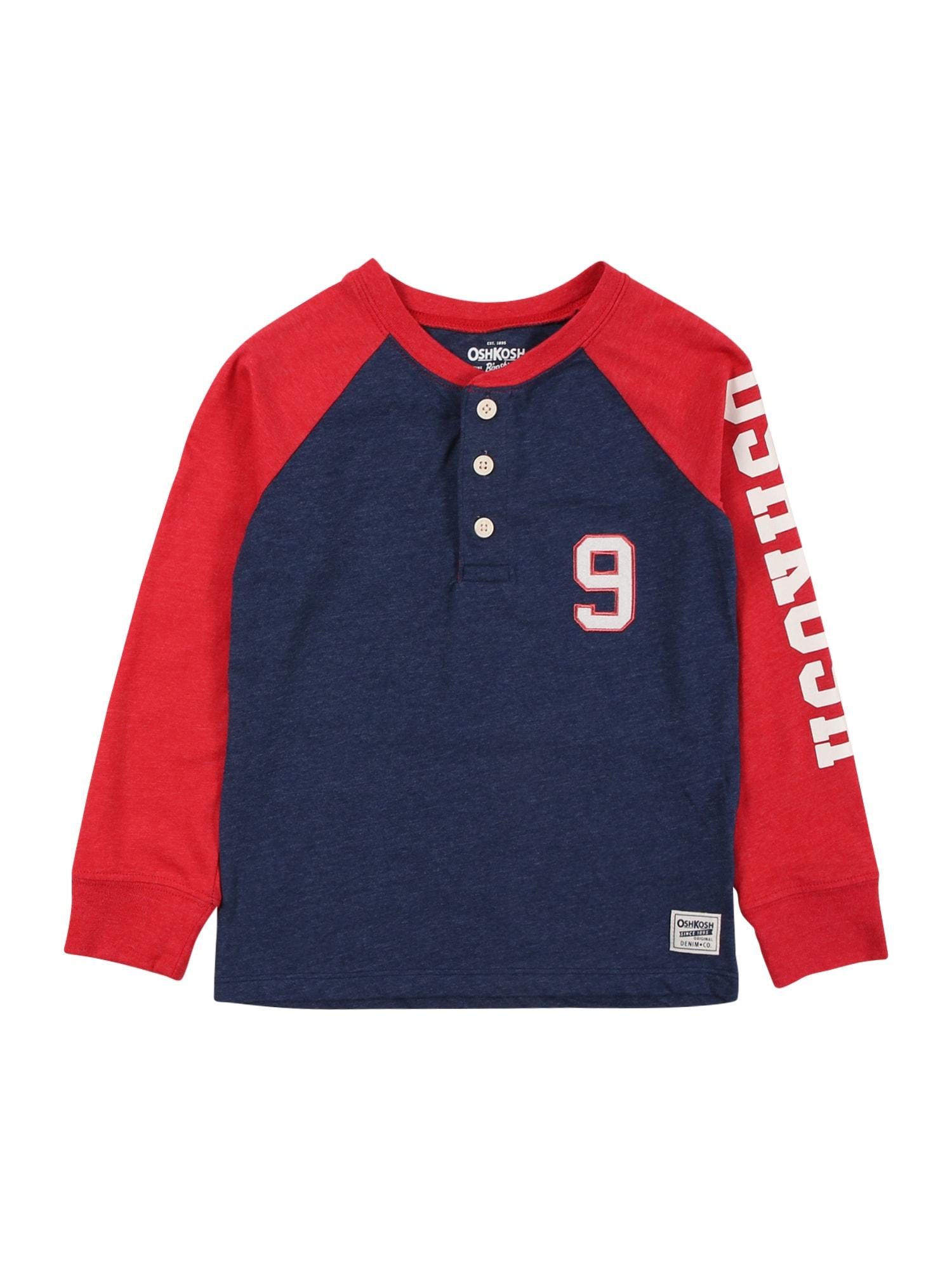 OshKosh Marškinėliai raudona / margai mėlyna / balta