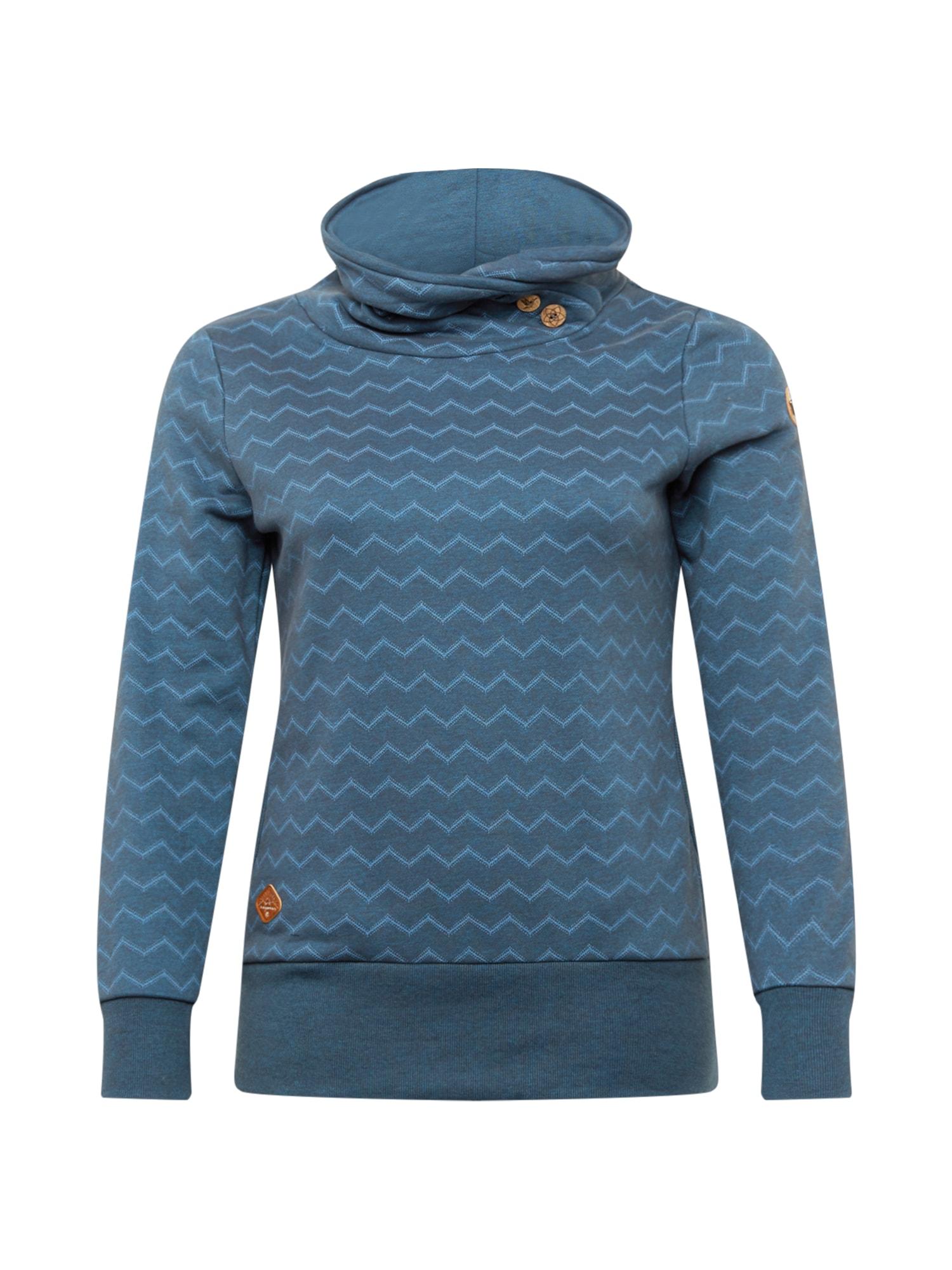 Ragwear Plus Megztinis be užsegimo tamsiai mėlyna / mėlyna dūmų spalva