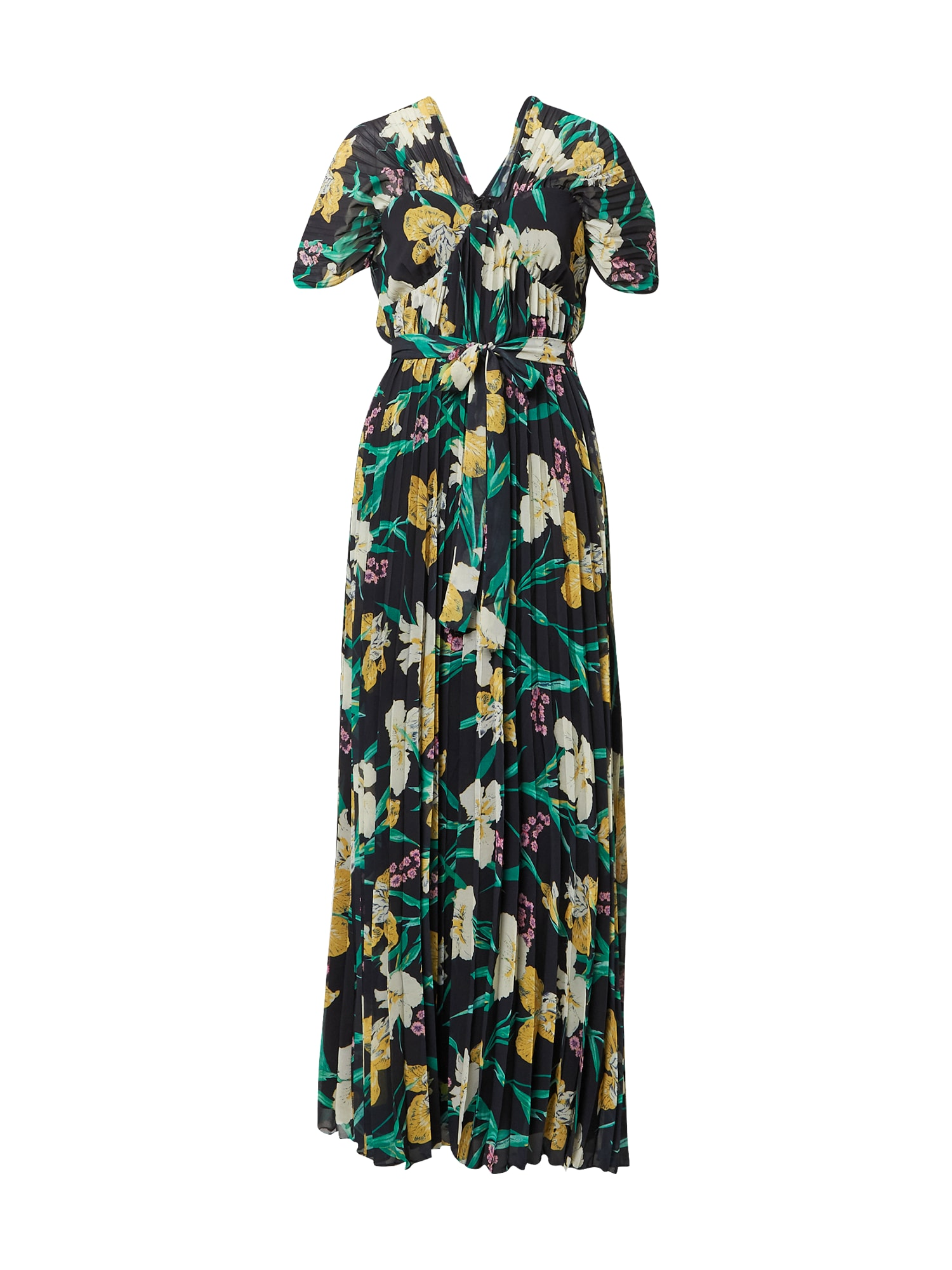 Forever Unique Suknelė juoda / geltona / žalia / balta