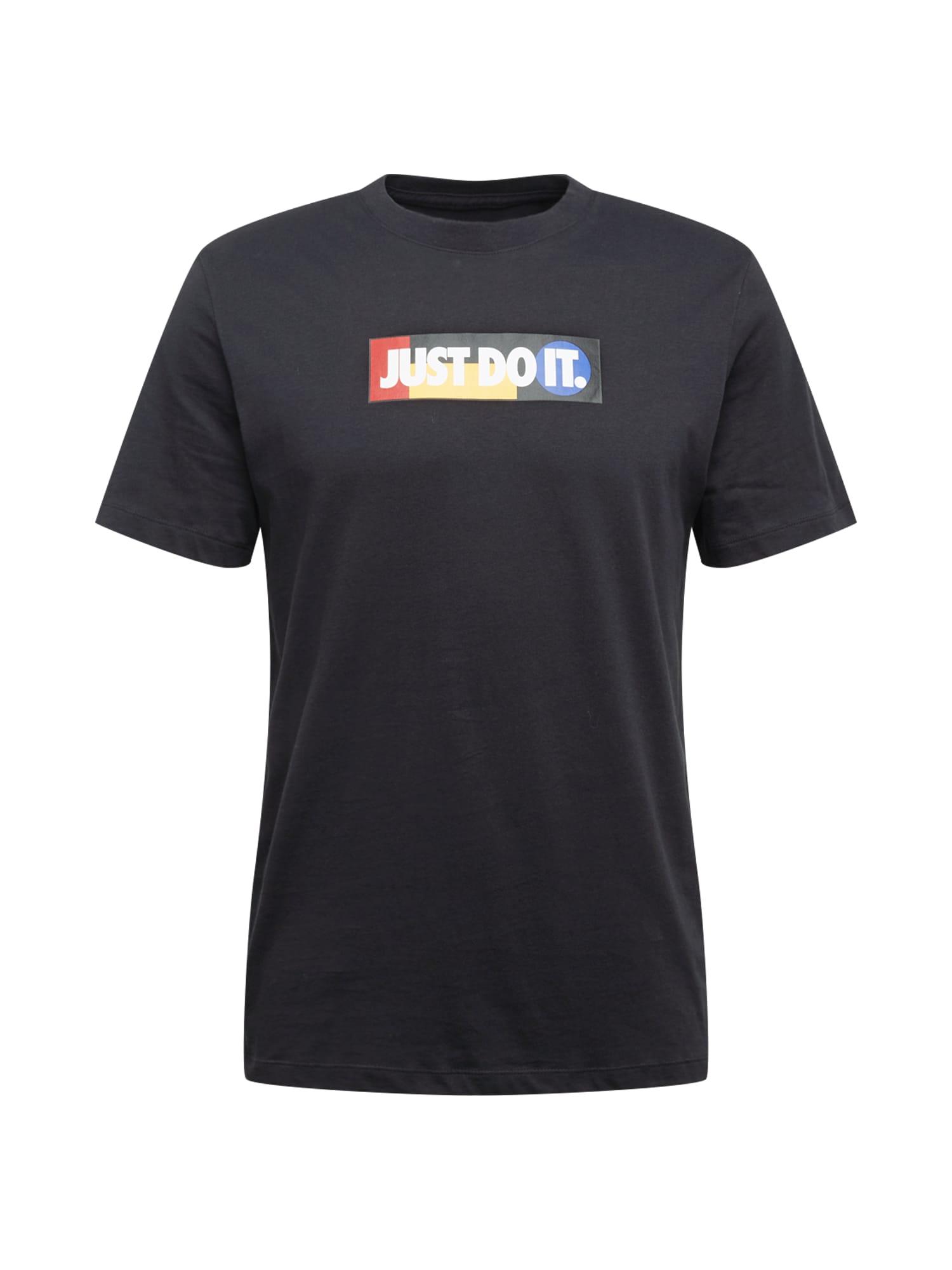 Nike Sportswear Tričko  černá / bílá / hořčicová / melounová / modrá