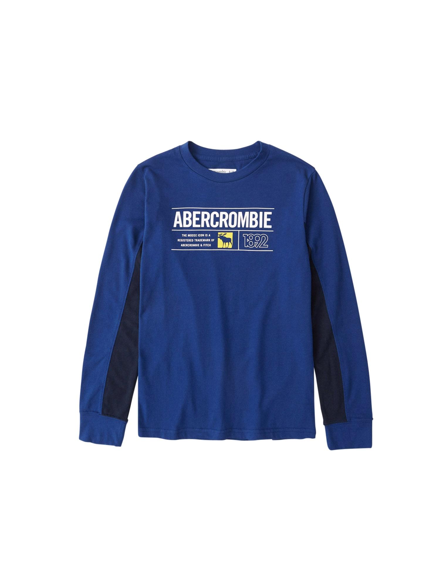 Abercrombie & Fitch Marškinėliai mėlyna / tamsiai mėlyna / balta