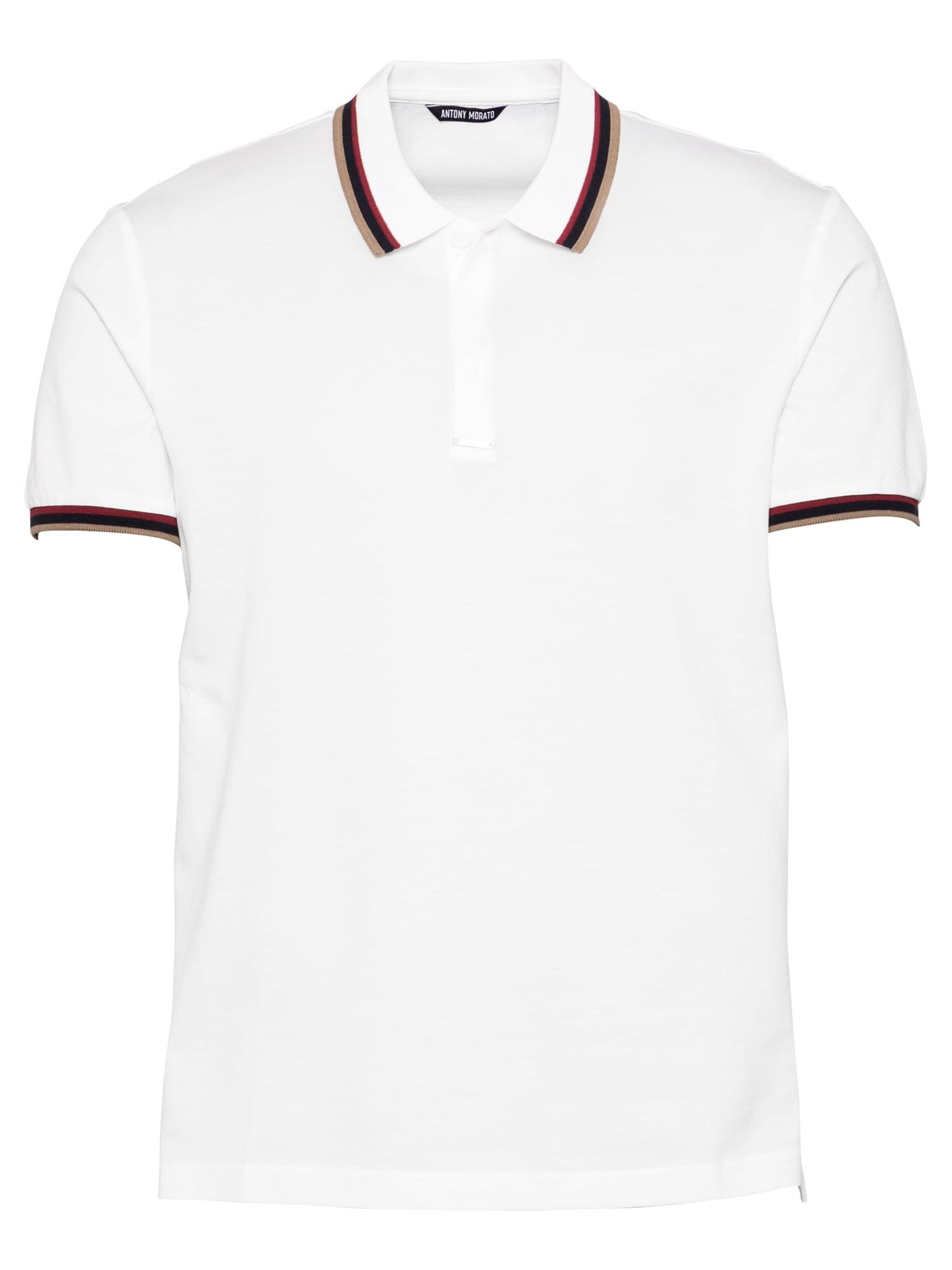 ANTONY MORATO Marškinėliai juoda / šviesiai ruda / vyno raudona spalva / balta