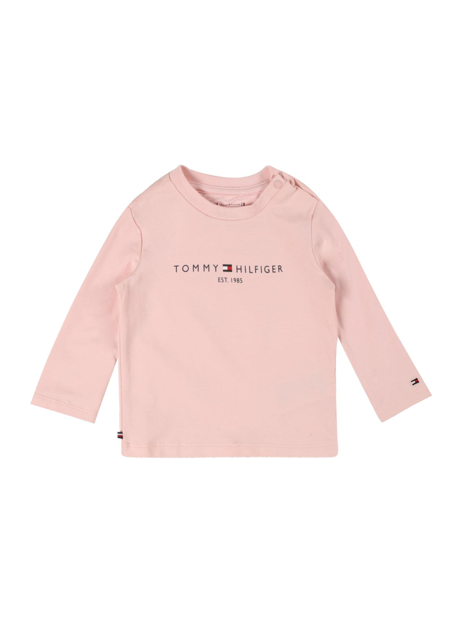 TOMMY HILFIGER Tričko  růžová / tmavě modrá / bílá / červená