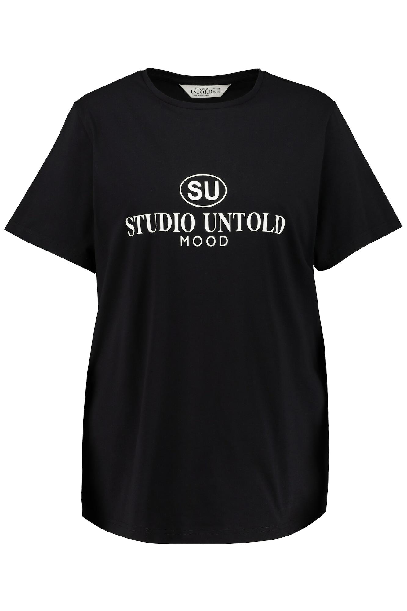Studio Untold Marškinėliai juoda / balta
