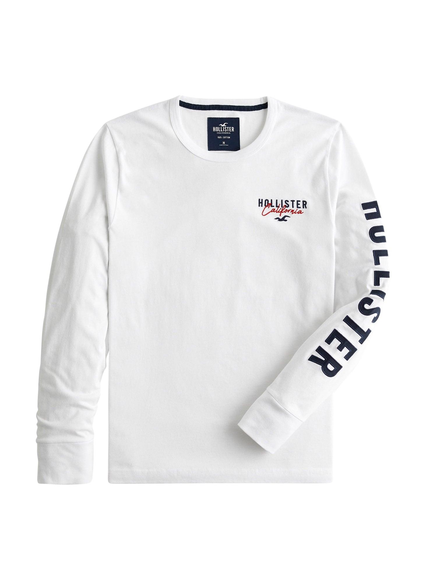 HOLLISTER Tričko  bílá / černá