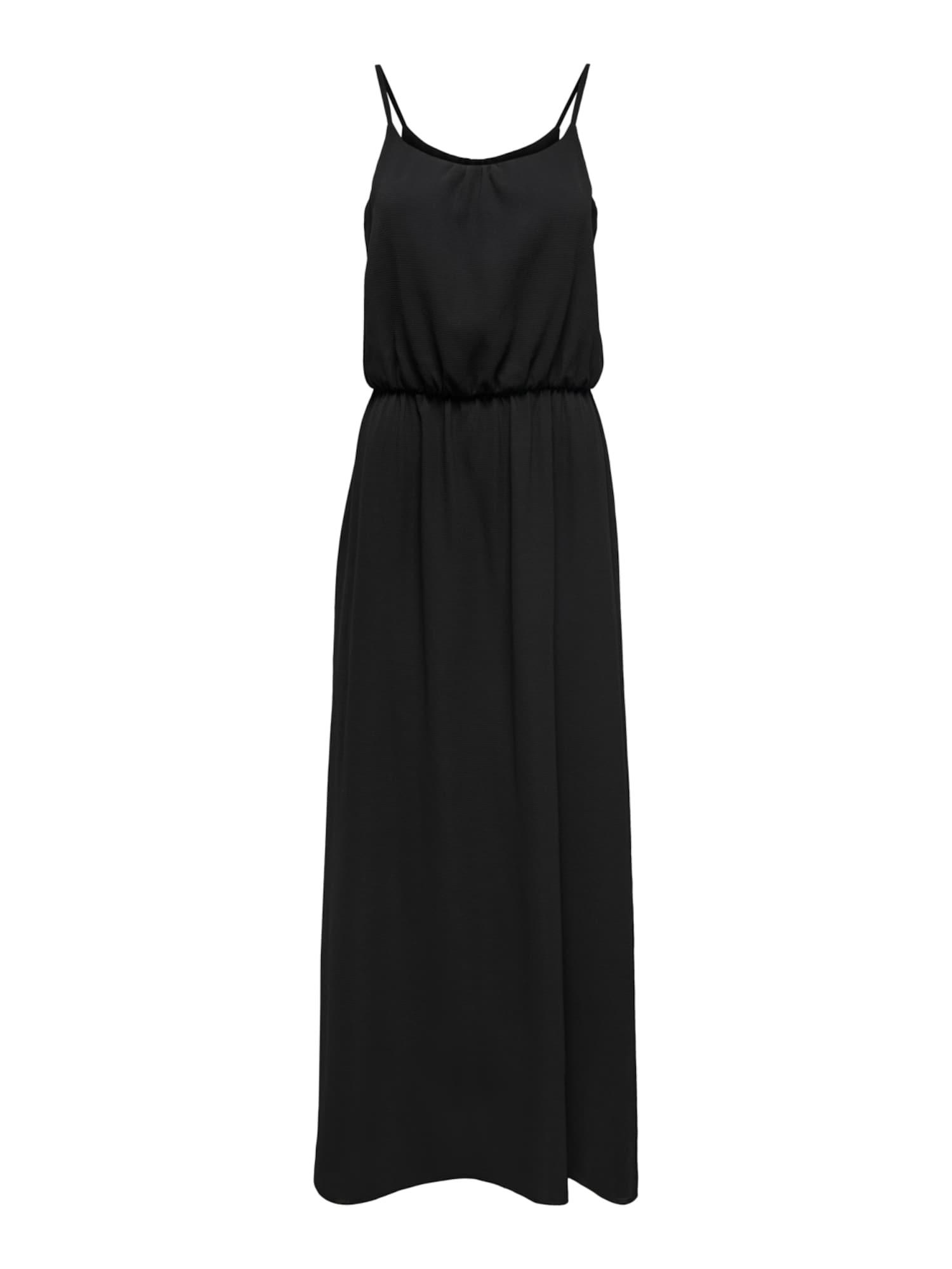 ONLY Letní šaty 'ONLNOVA LUX STRAP MAXI DRESS SOL. WVN 5'  černá