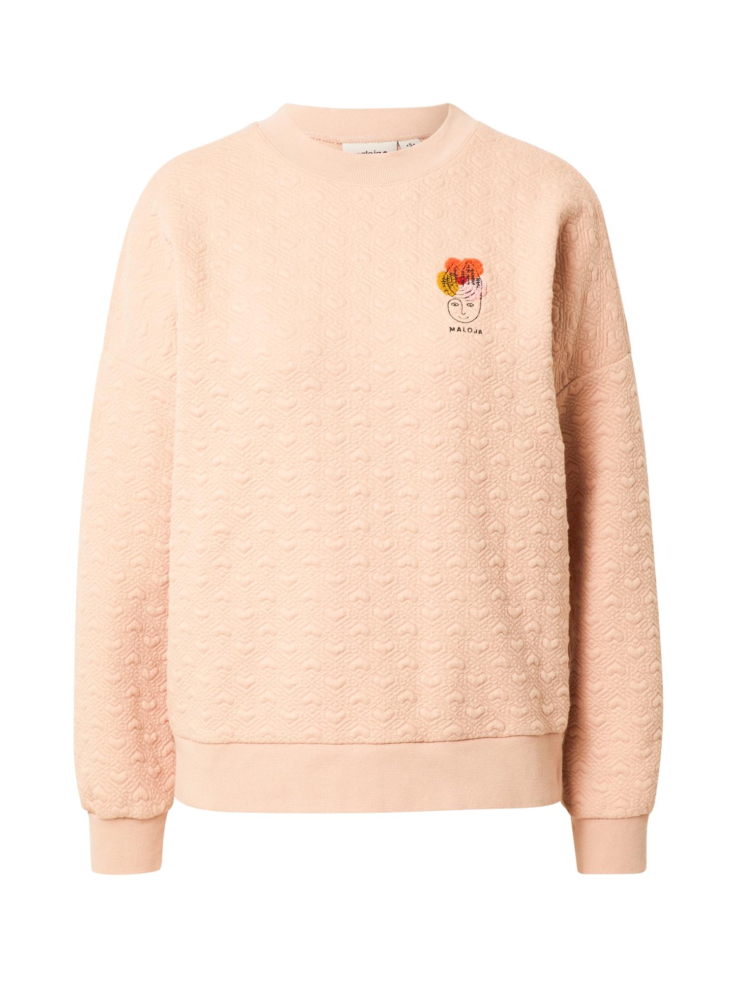 Maloja Sportinio tipo megztinis ryškiai rožinė spalva / oranžinė / šafrano spalva / rožių spalva / juoda