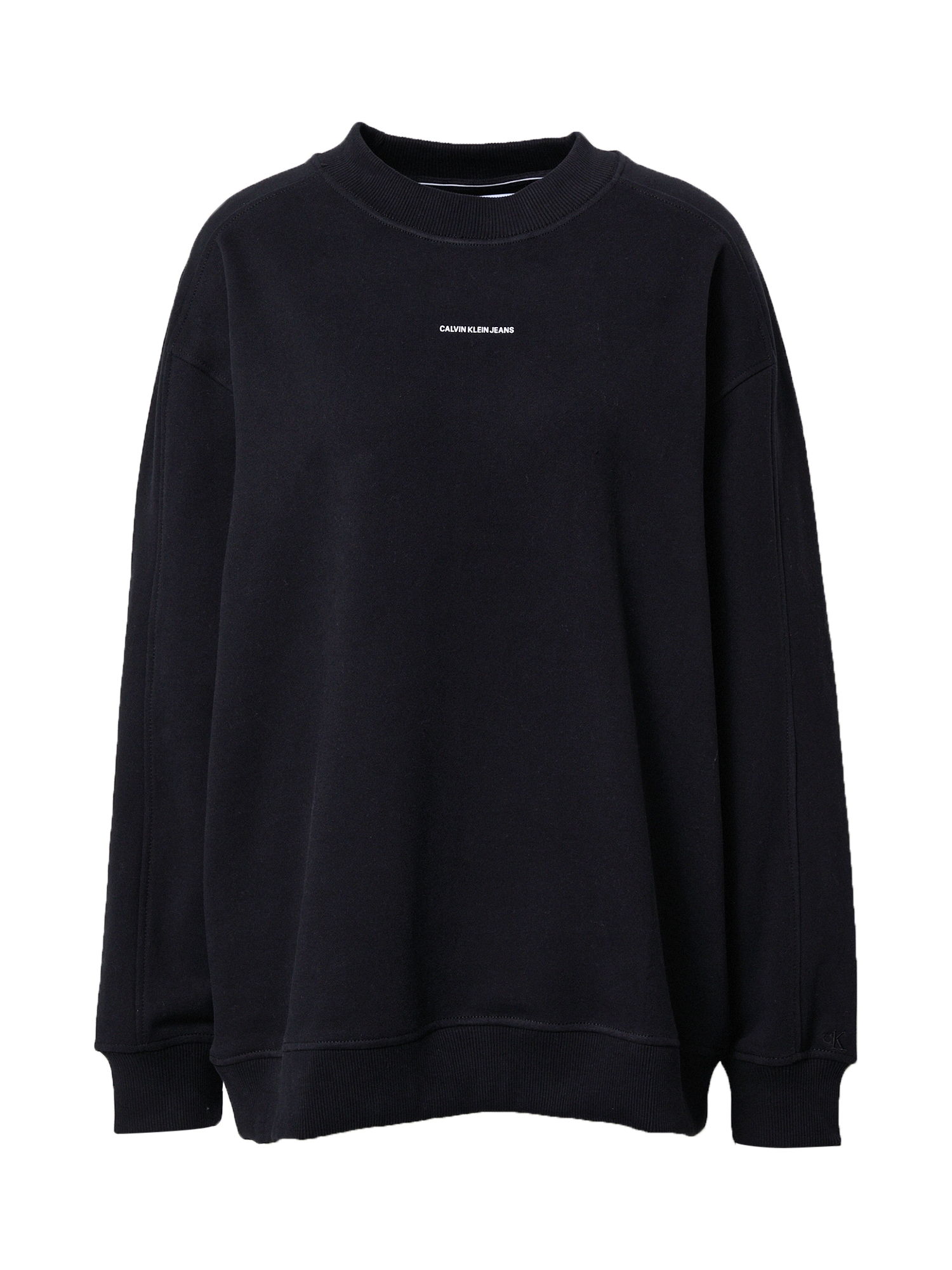 Calvin Klein Jeans Curve Megztinis be užsegimo juoda / balta
