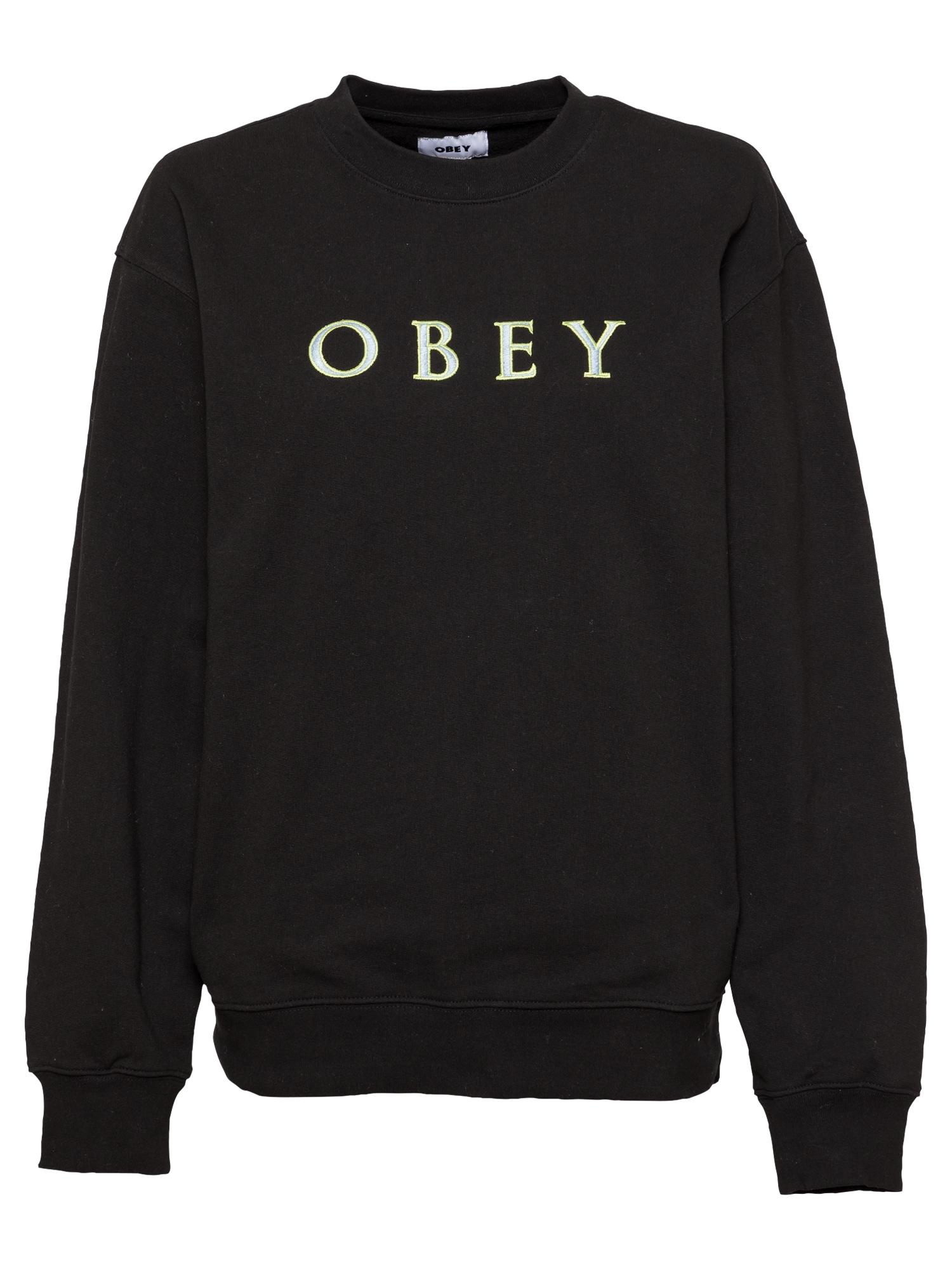 Obey Megztinis be užsegimo juoda / pilka / neoninė žalia