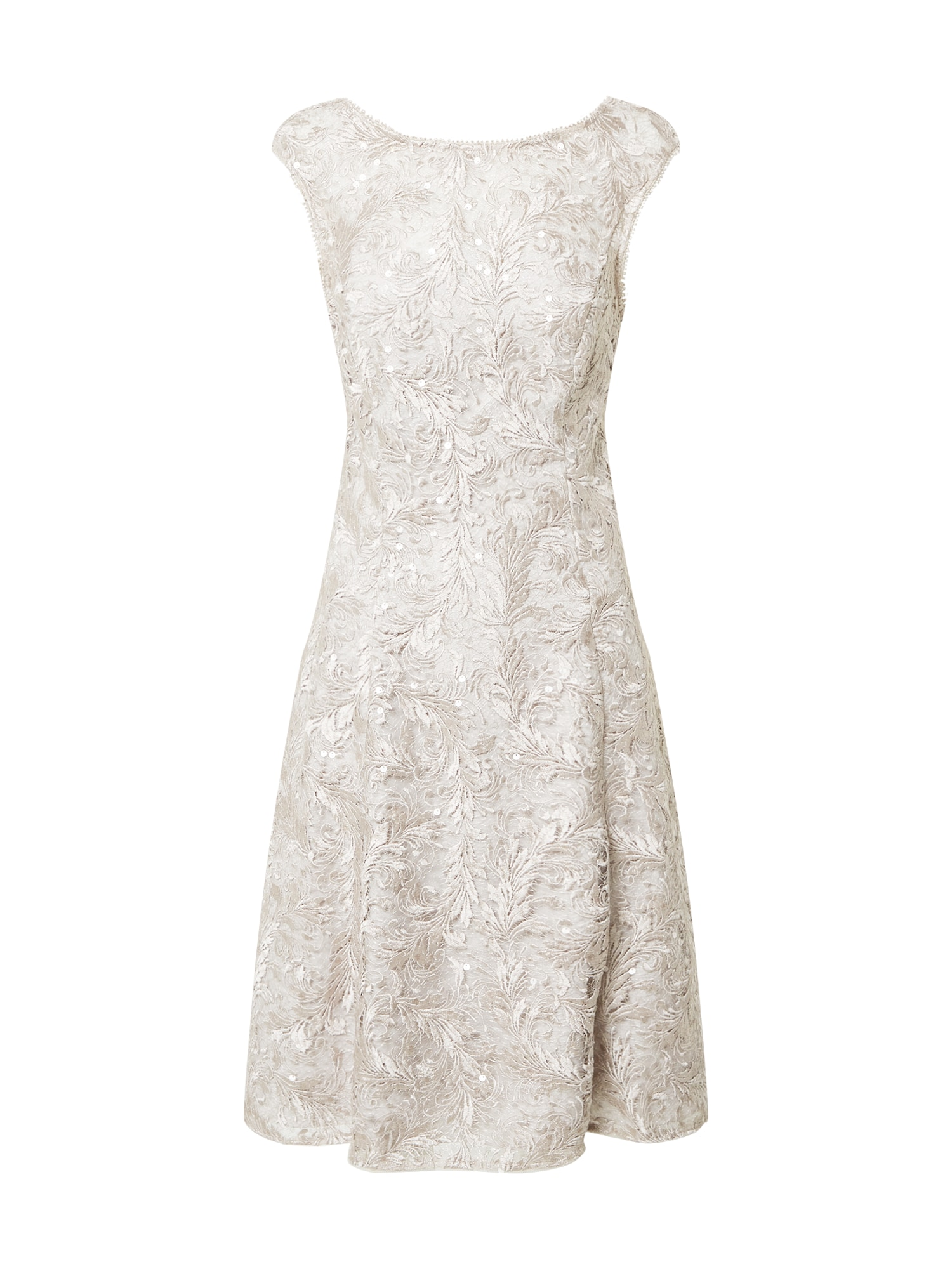 Adrianna Papell Kokteilinė suknelė balta / sidabrinė
